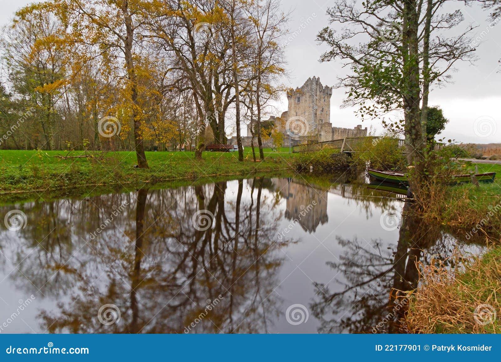 城堡在罗斯附近的爱尔兰killarney