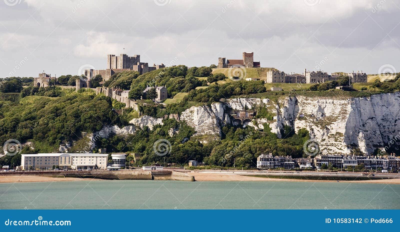 城堡峭壁多弗白色