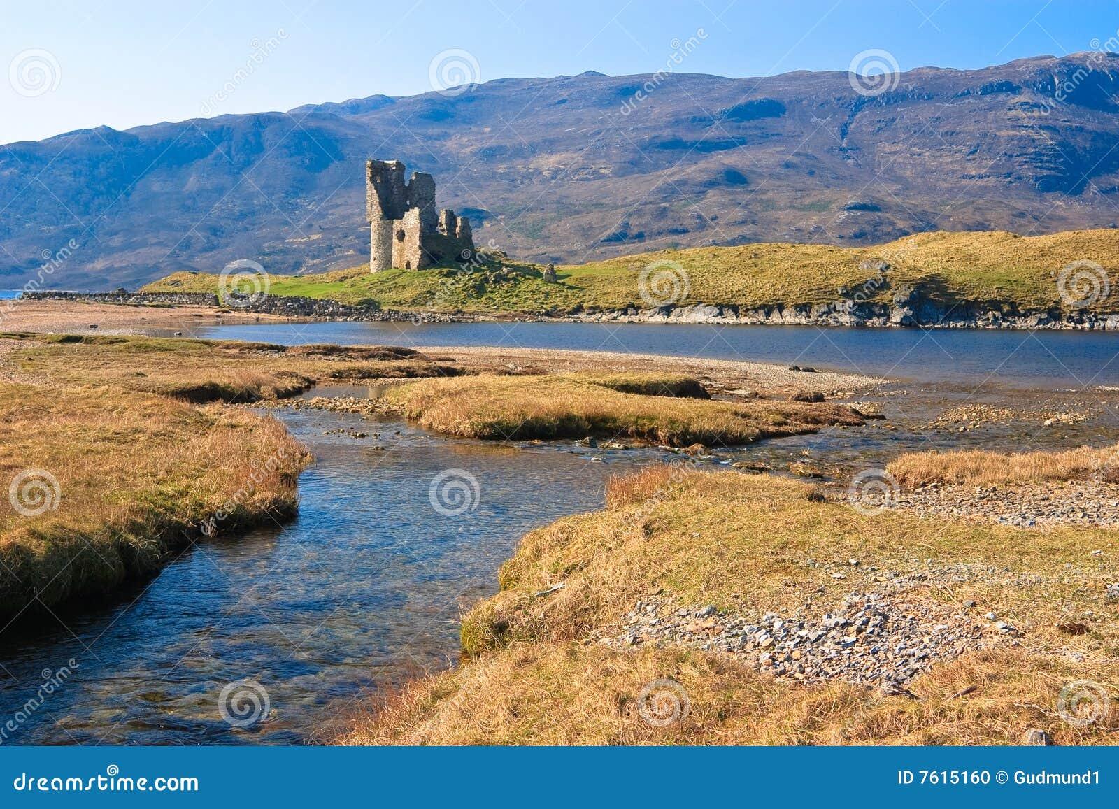 城堡废墟苏格兰人