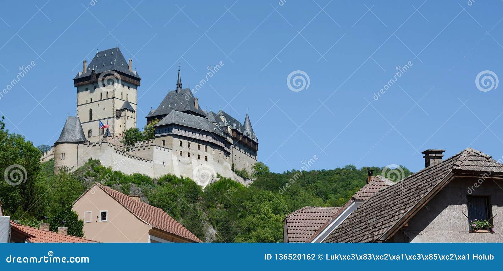 城堡捷克karlstejn共和国