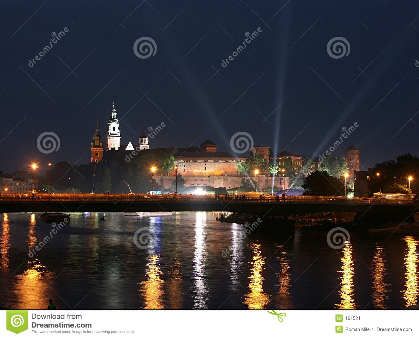城堡晚上wawel