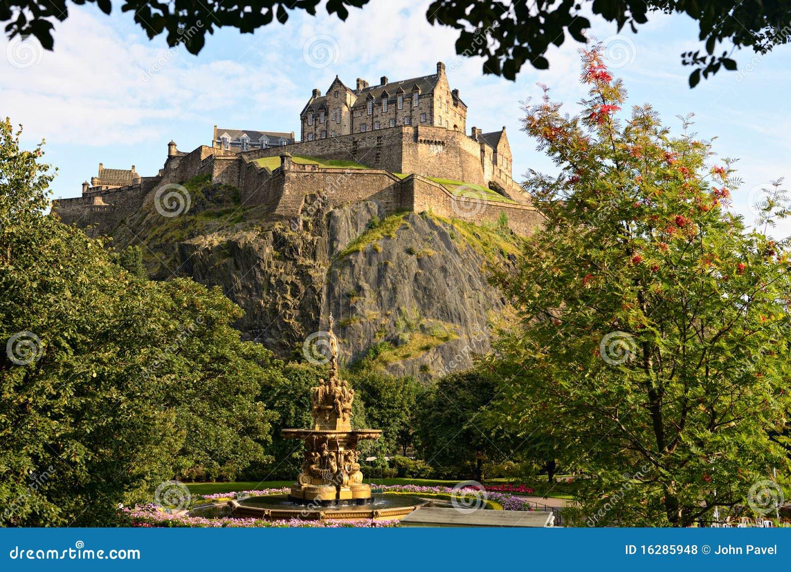 城堡爱丁堡喷泉罗斯・苏格兰