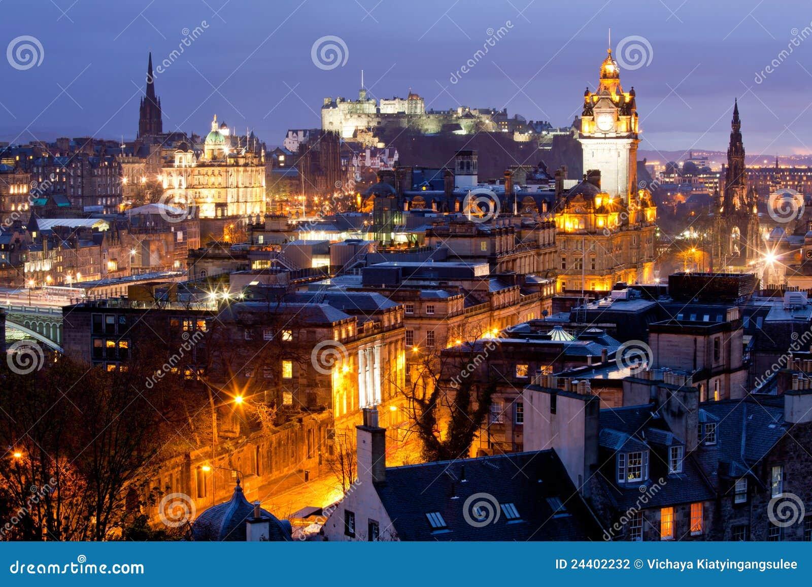 城堡爱丁堡苏格兰地平线