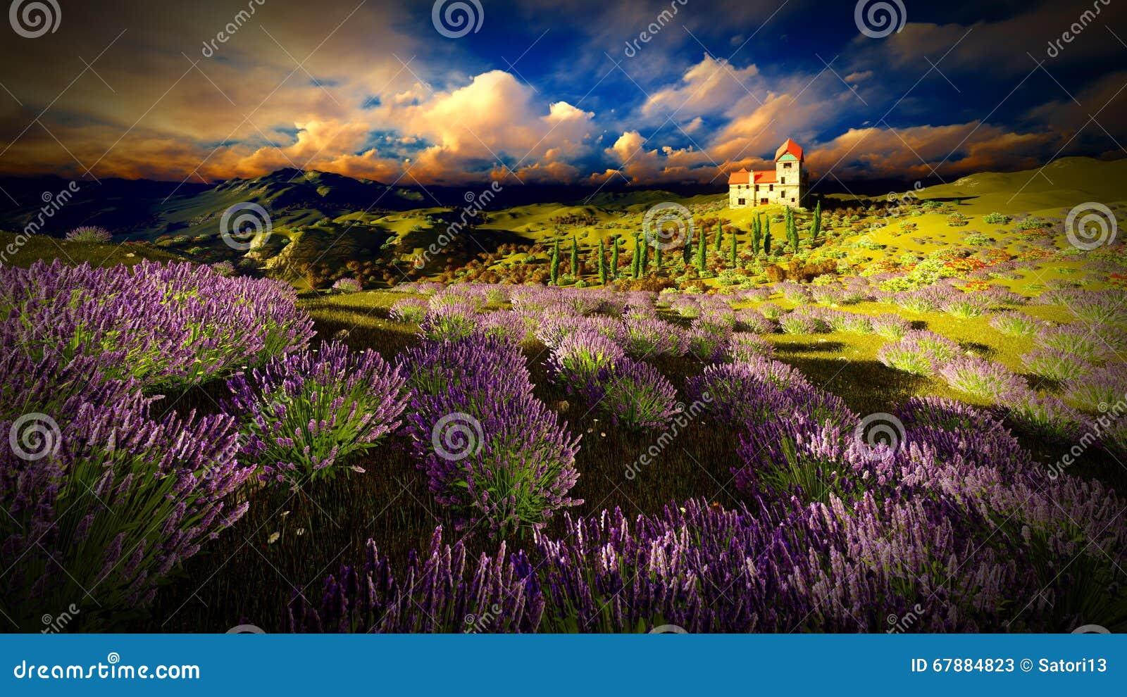 城堡耸立的9ver淡紫色领域