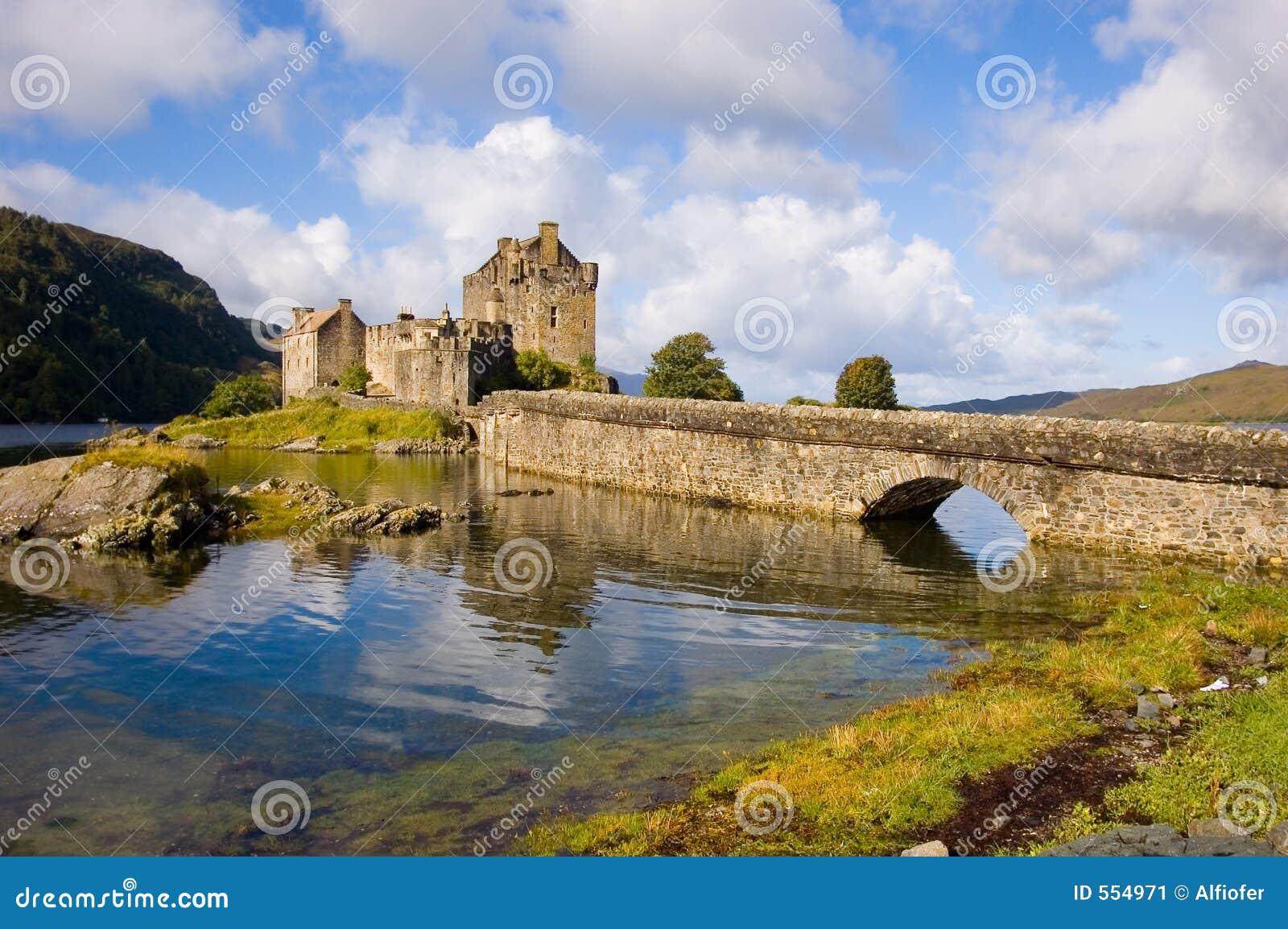 城堡donan eilean苏格兰