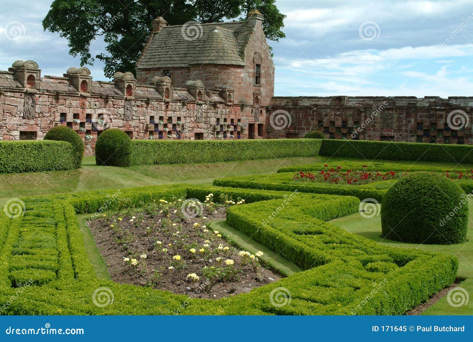 城堡edzell庭院装饰物苏格兰