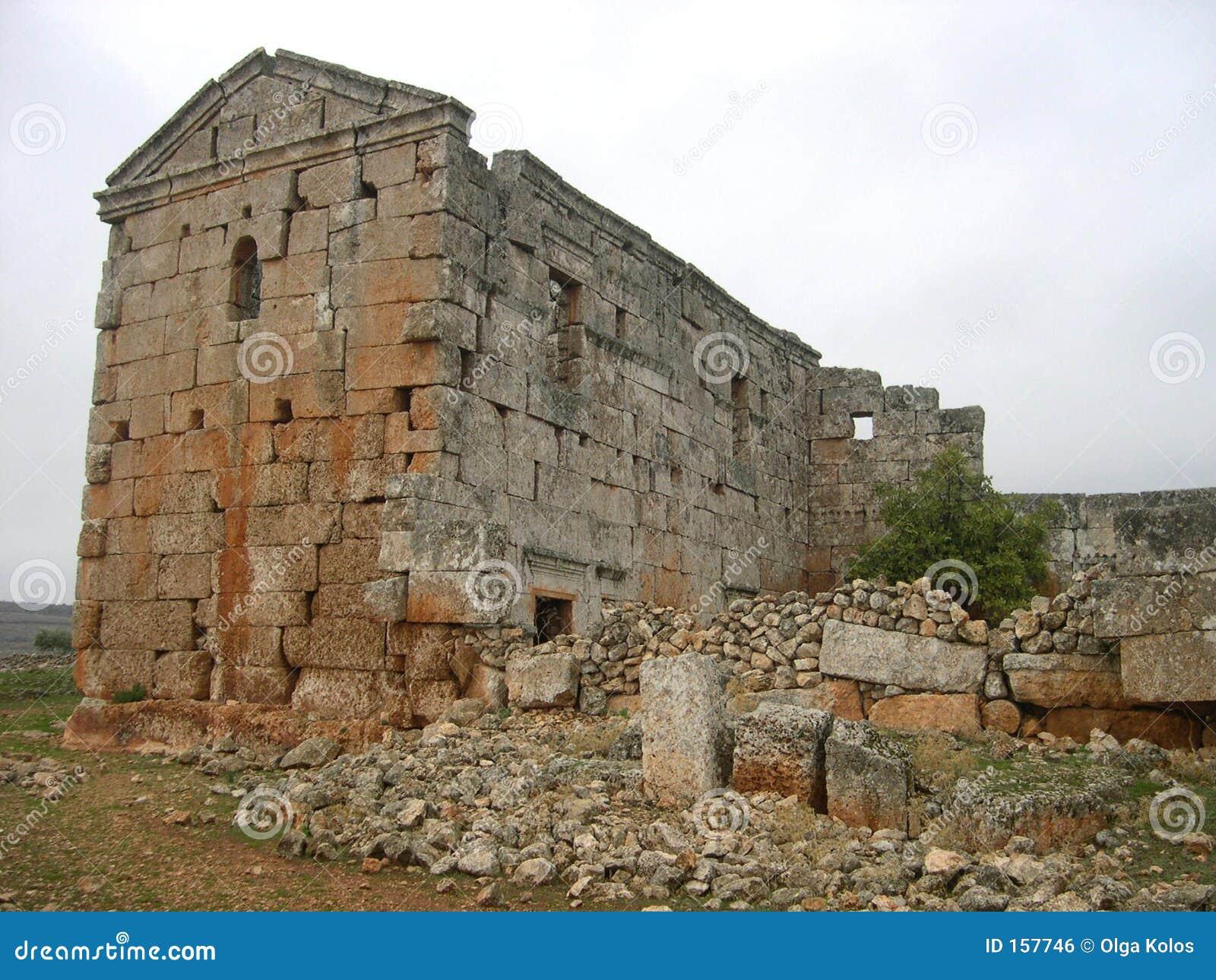 城市停止的serjilla叙利亚