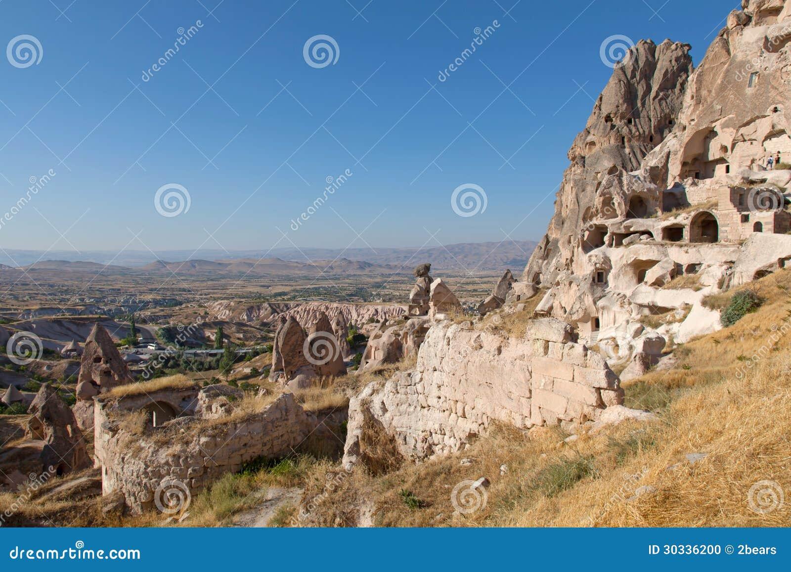 洞城市在Cappadocia,土耳其