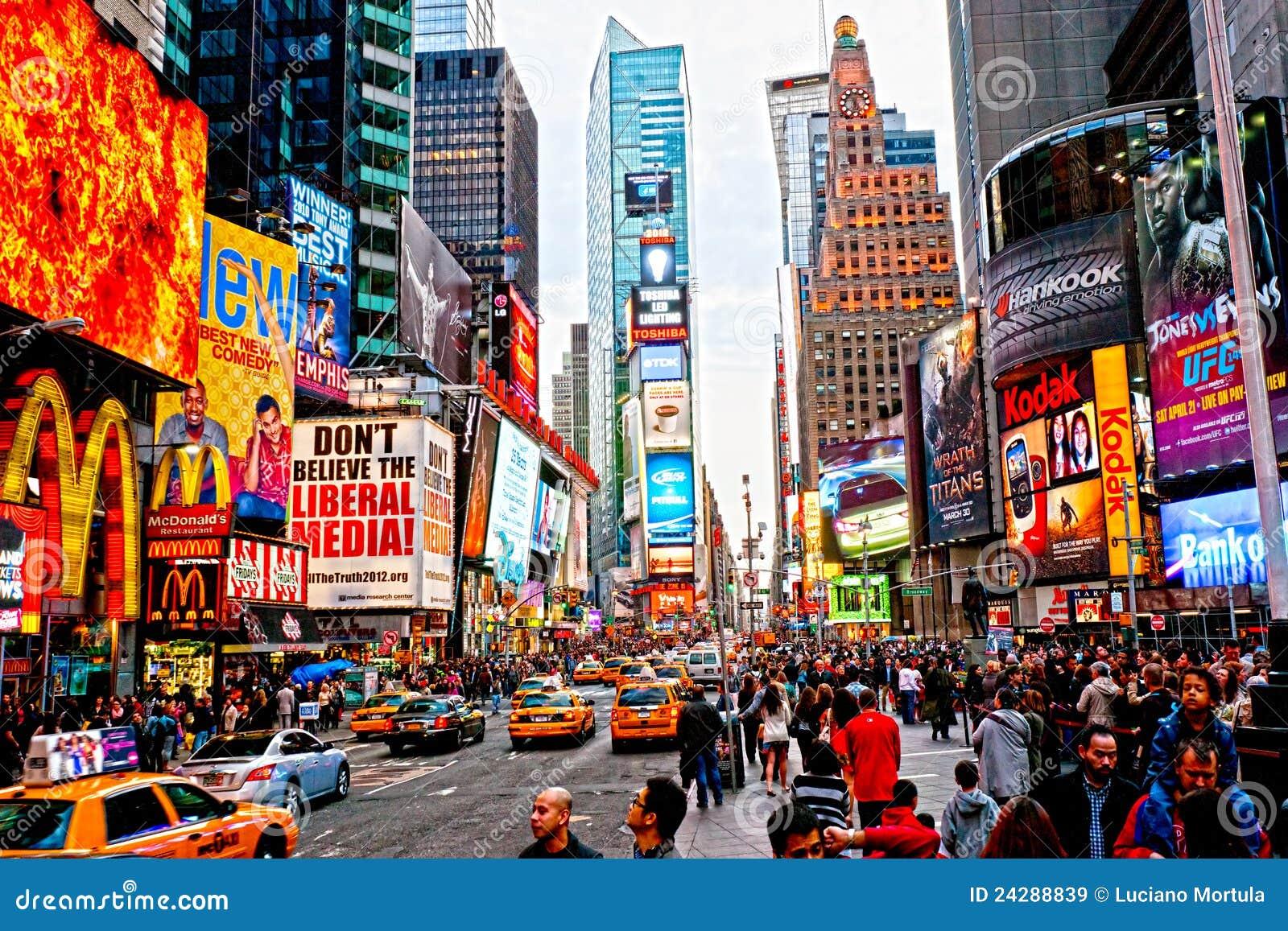 城市新的方形时间美国约克