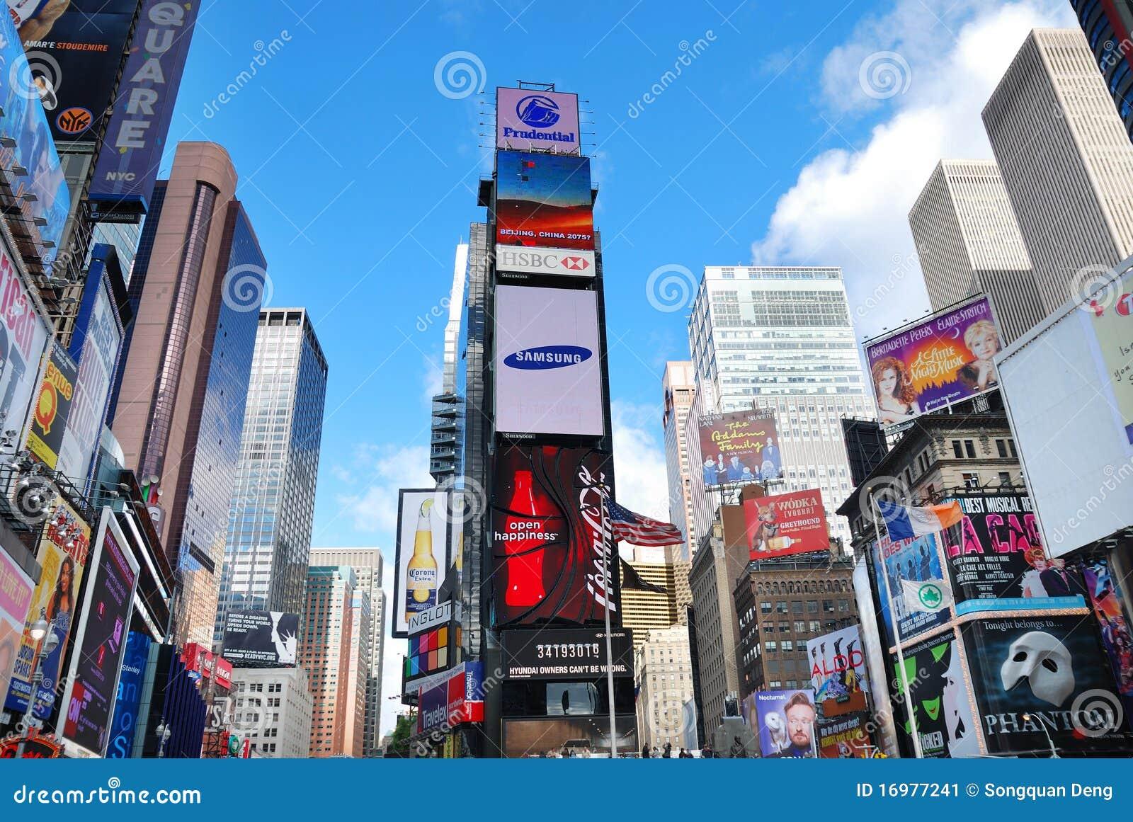 城市曼哈顿新的方形时间约克