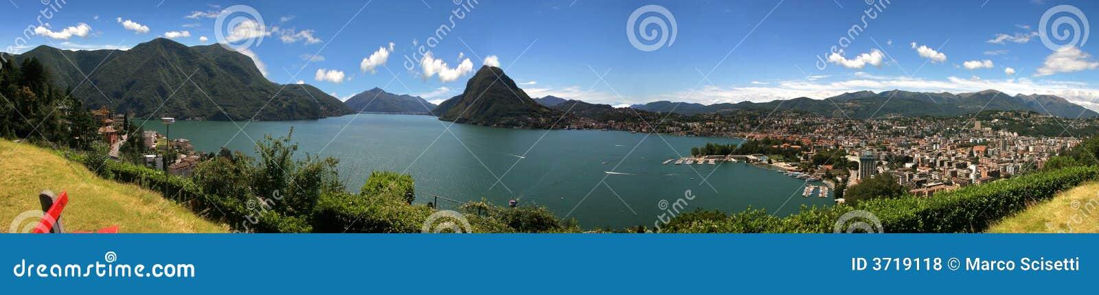 城市湖lugano