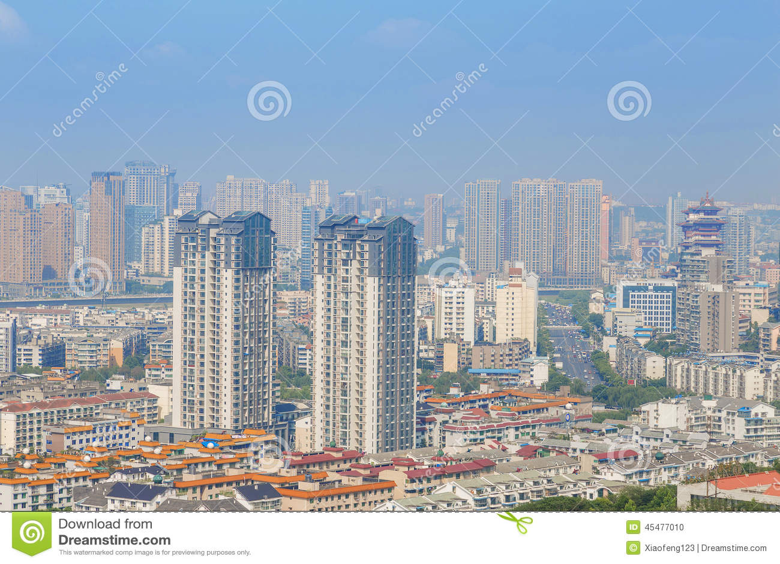 城市现代全景
