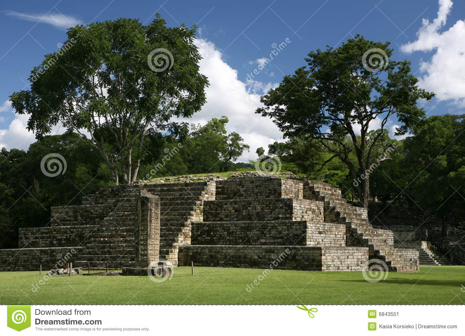 城市老precloumbian金字塔