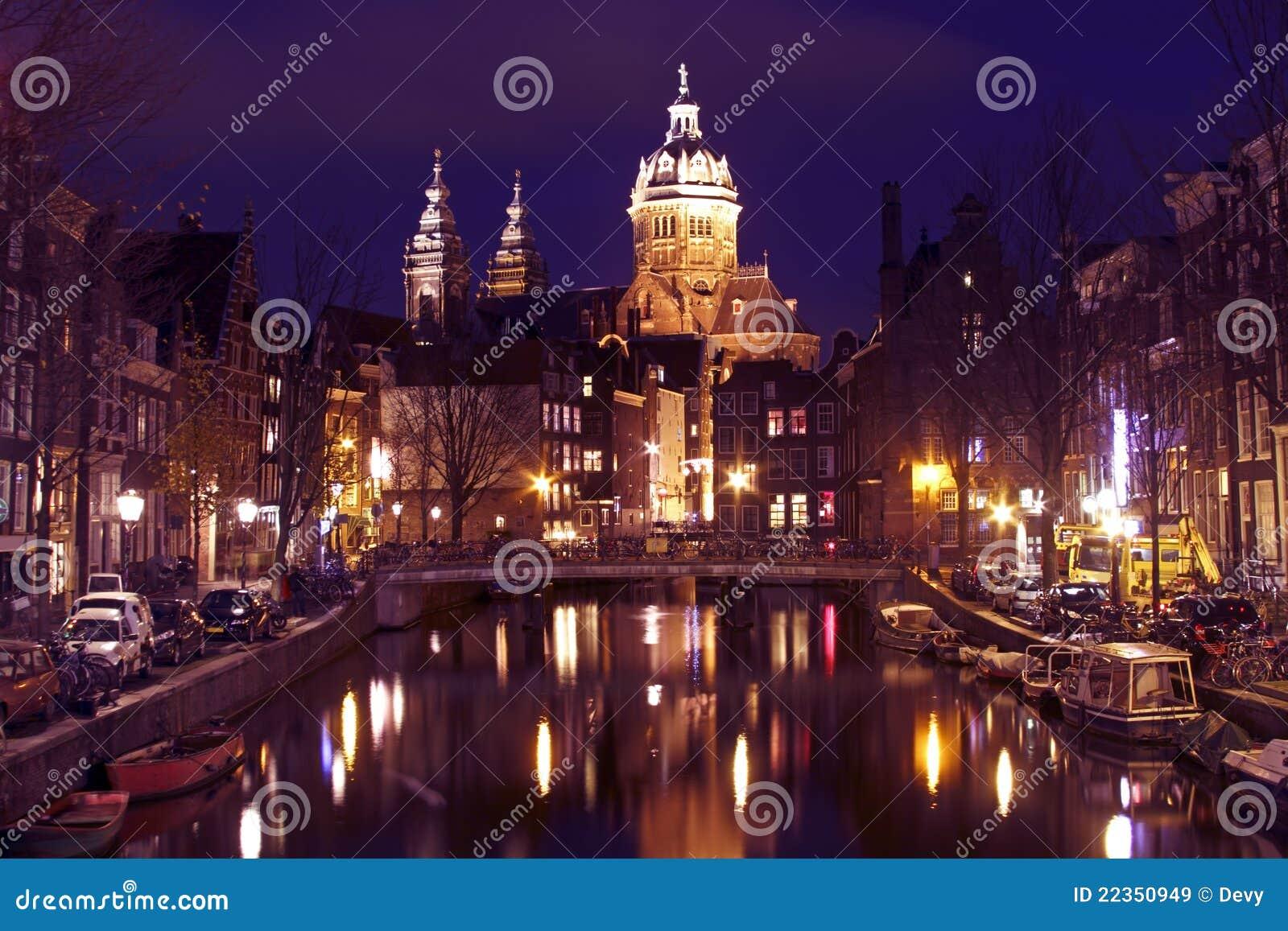 城市风景在阿姆斯特丹荷兰