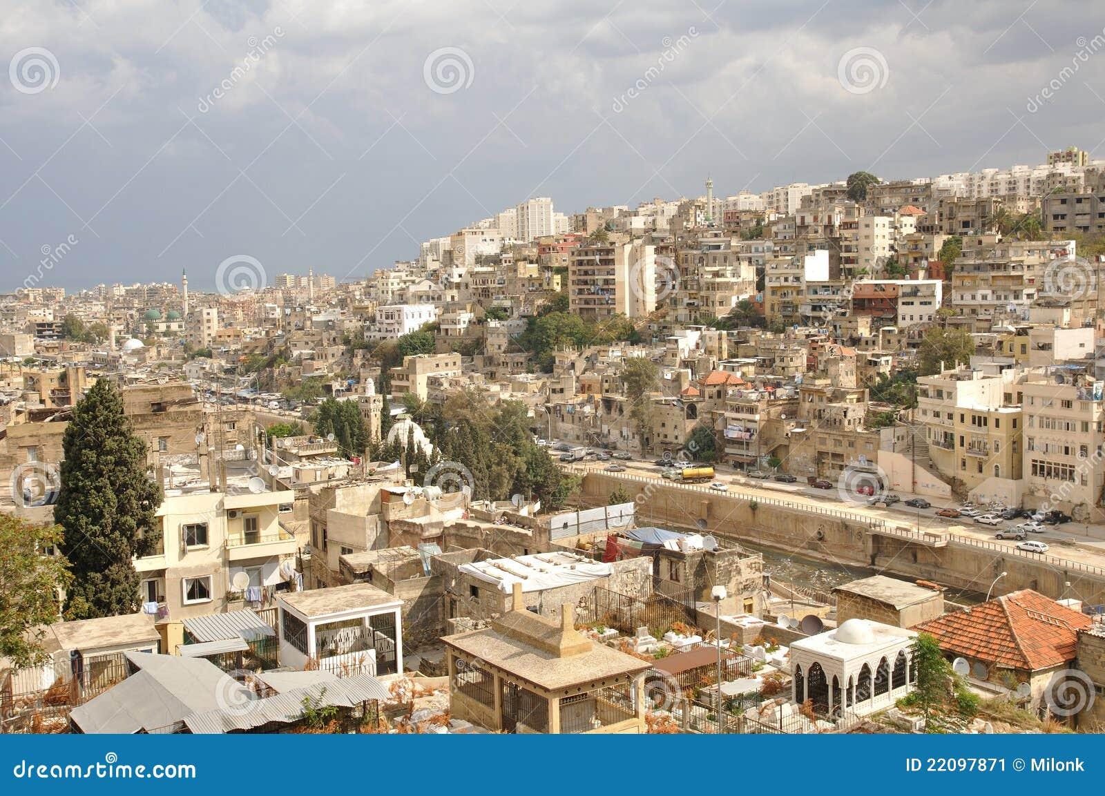 城市黎巴嫩的黎波里