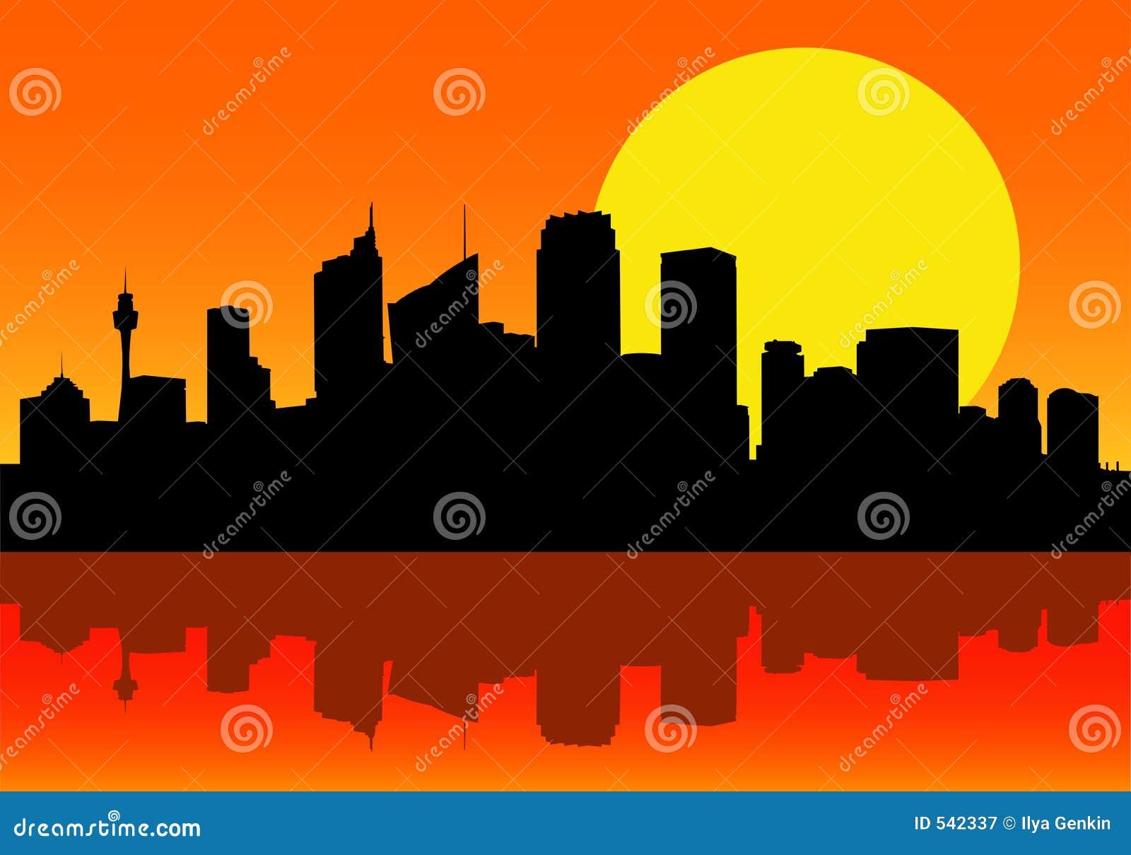 Download 城市黎明地平线 库存例证. 插画 包括有 商业, 梯度, 办公室, 无格式, 水平, 行业, 住宅, 黎明, 地铁 - 542337