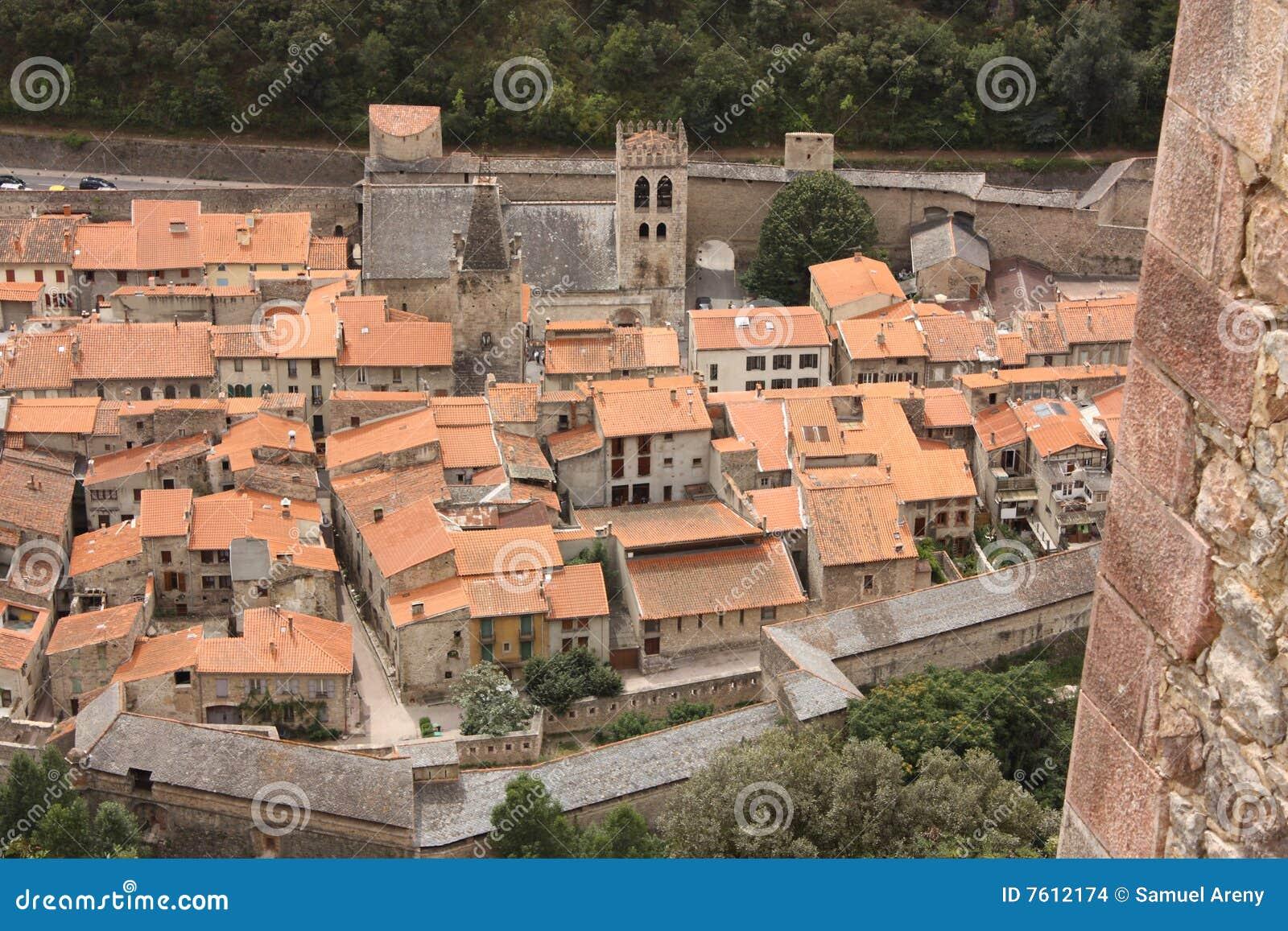 城市conflent de筑堡垒于的villefranche