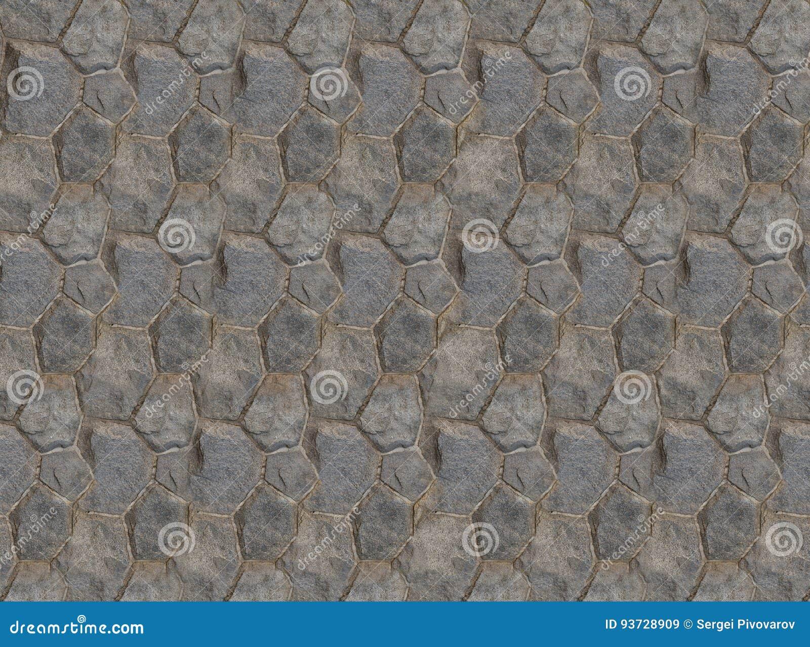 基地折叠了六角石头瓦片墙壁片段正方形对称纹理