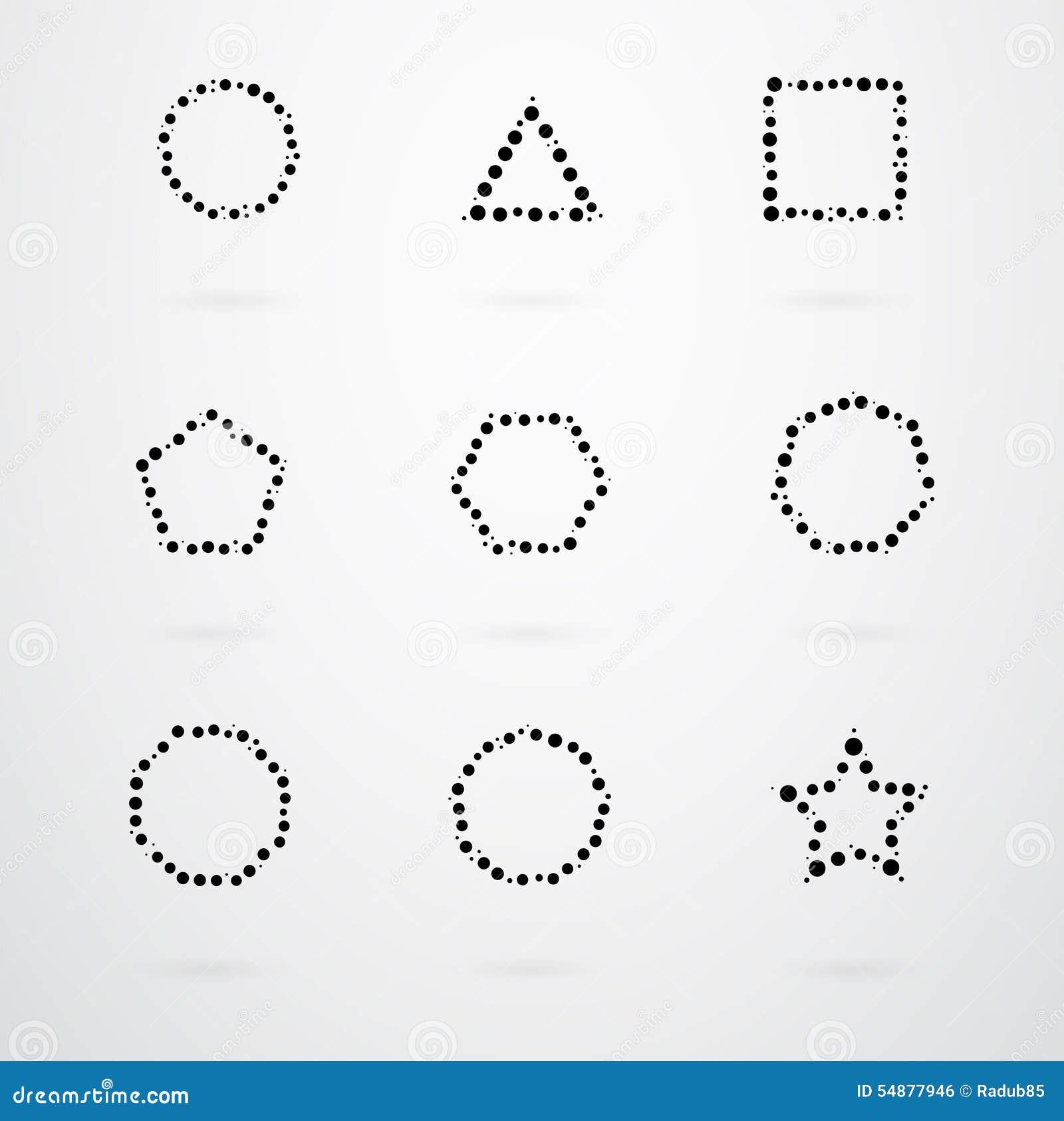 基本的几何形状传染媒介象图片