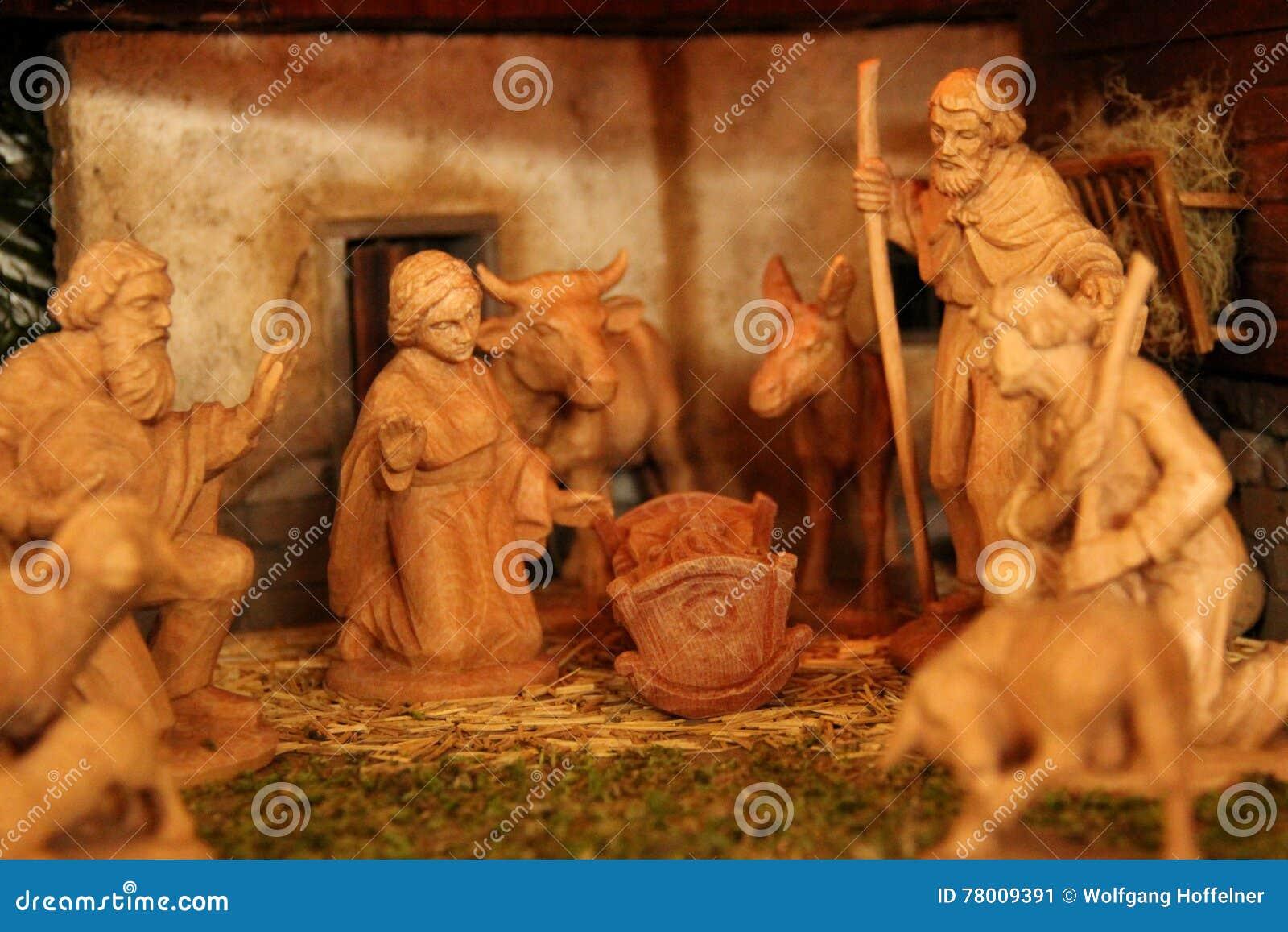 基督圣诞节小儿床耶稣・约瑟夫・玛丽诞生场面