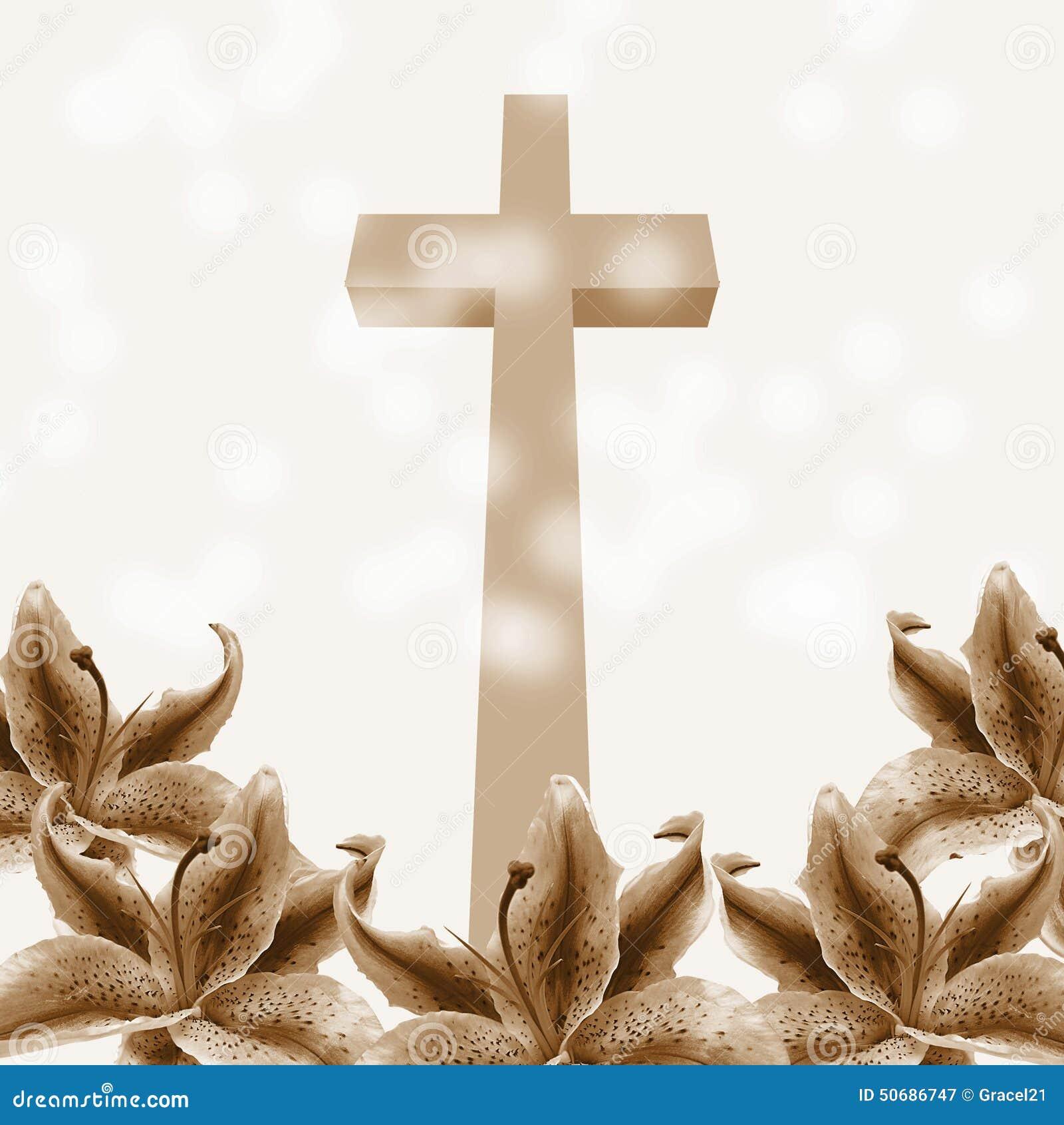 Download 基督徒十字架和百合花 库存例证. 插画 包括有 愉快, 设计, 信仰, 基督徒, 教会, 祝贺, 耶稣, beauvoir - 50686747