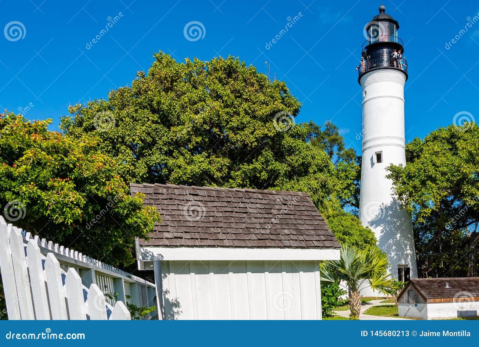 基韦斯特岛灯塔和地面