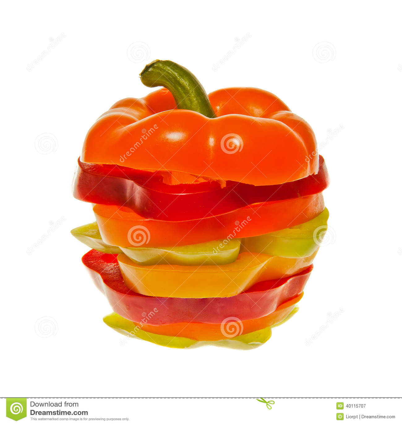 堆切的甜椒
