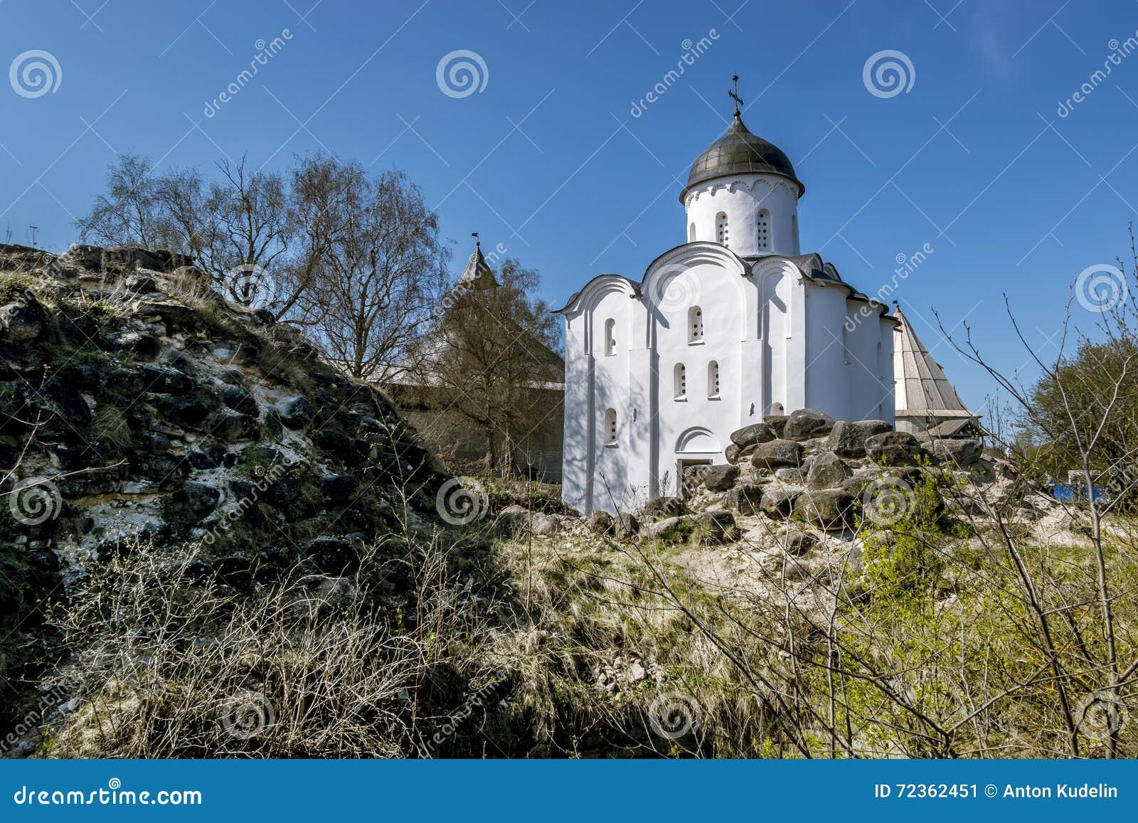 堡垒的圣乔治教会在Staraya拉多加 俄国