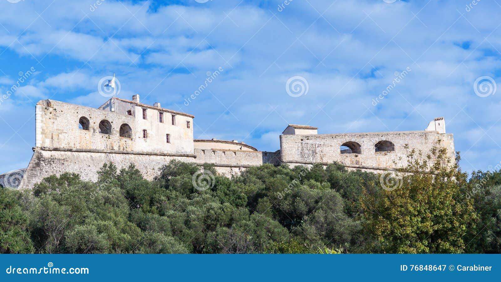 堡垒Carre墙壁在安地比斯