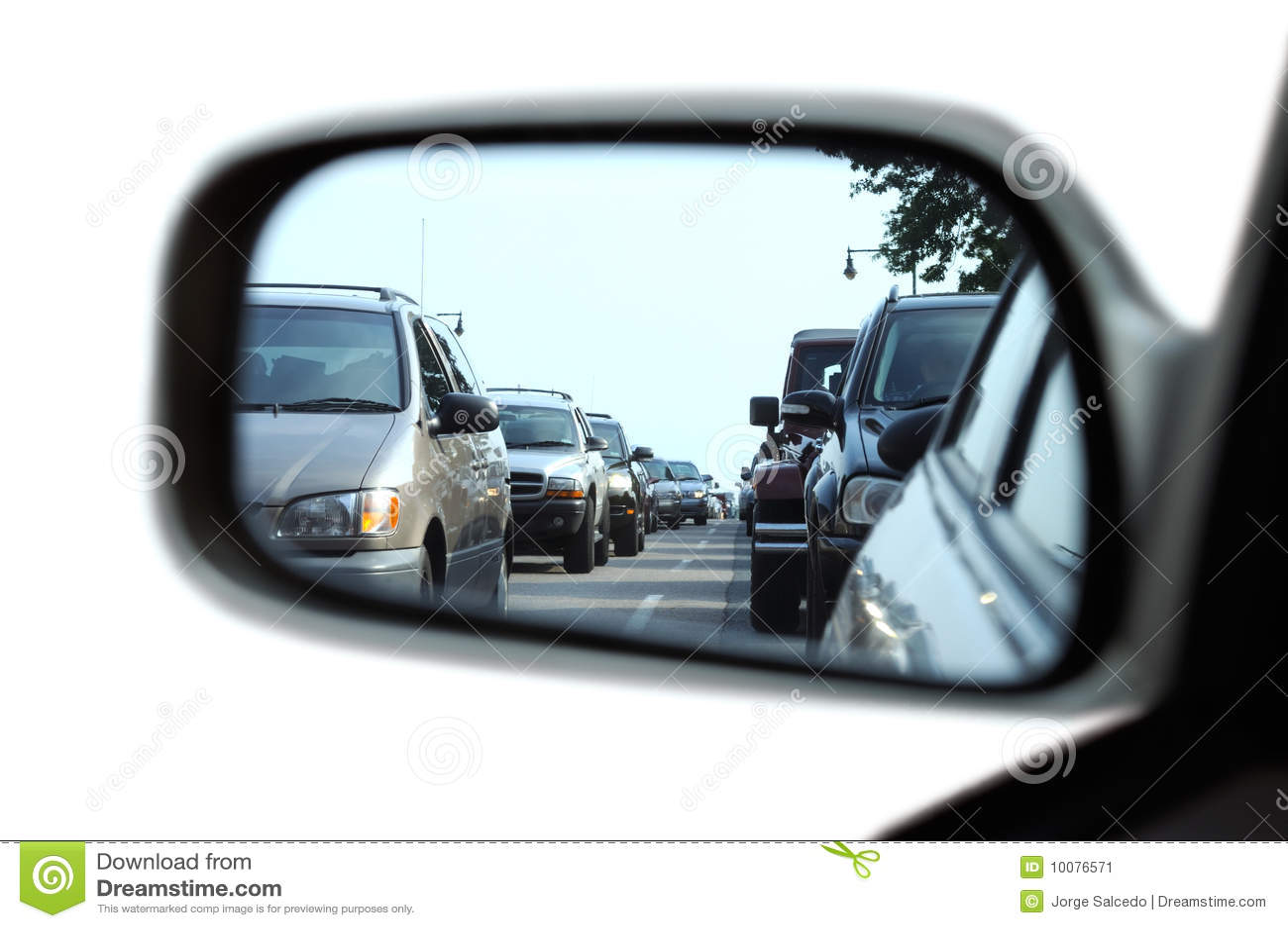 堵塞镜子后方业务量视图