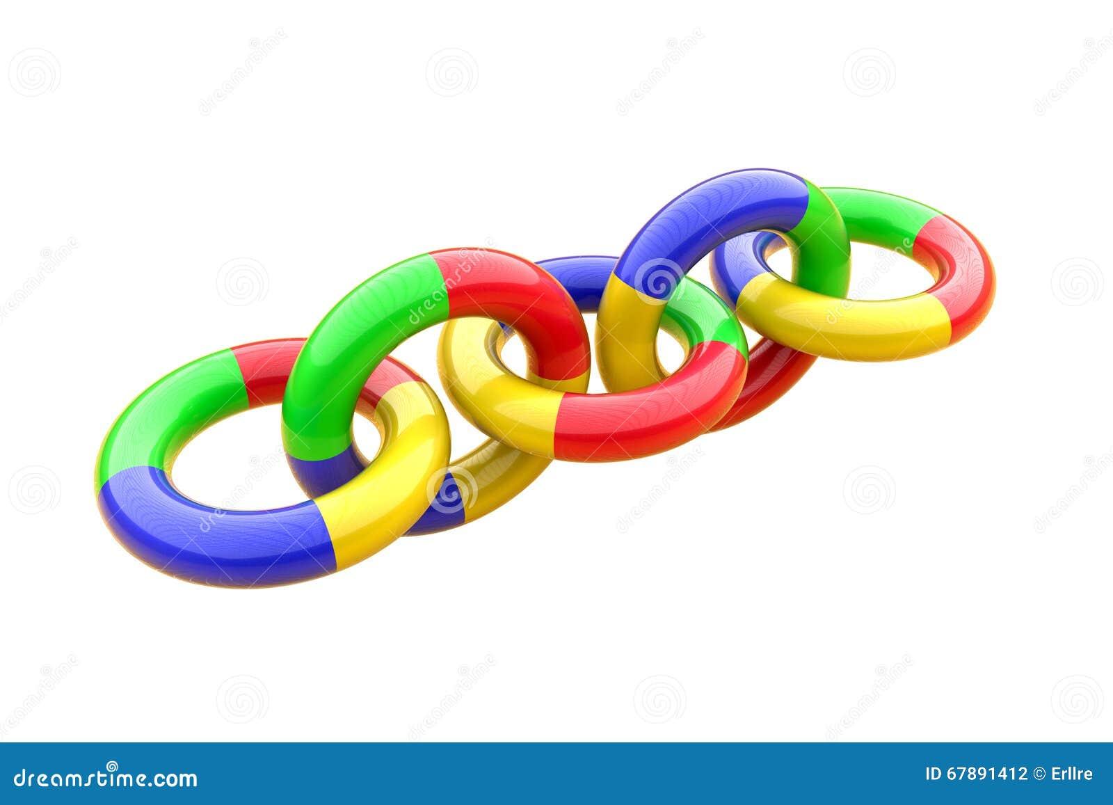 塑料圆环树尺寸链子
