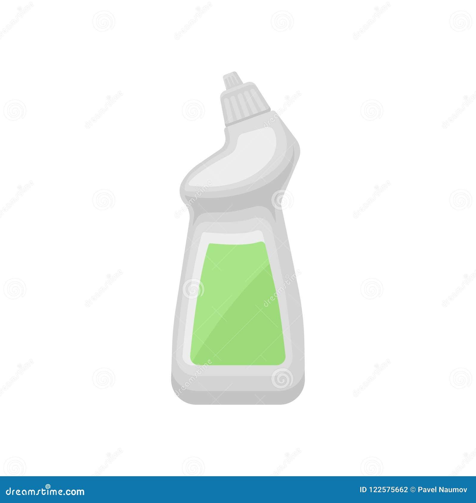 塑料瓶清洁产品,清洗化学制品容器传染媒介例证的家庭隔绝在a