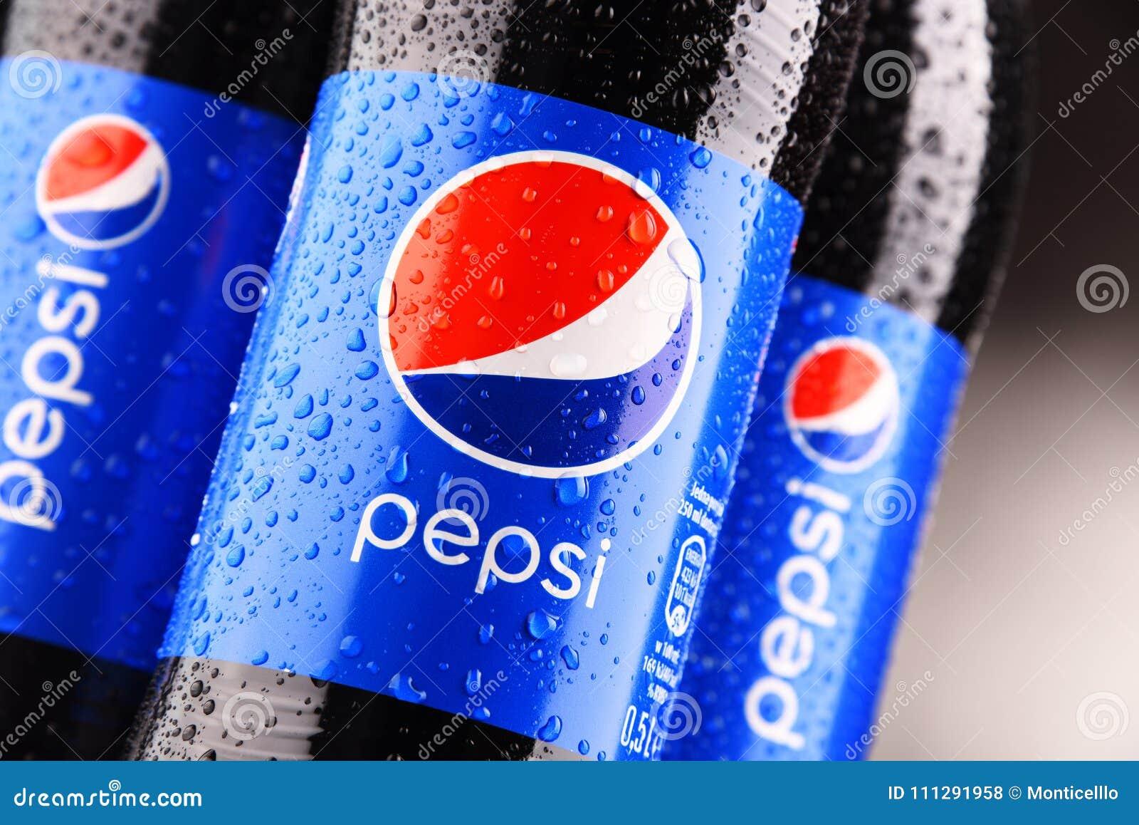 塑料瓶碳酸化合的软饮料百事可乐