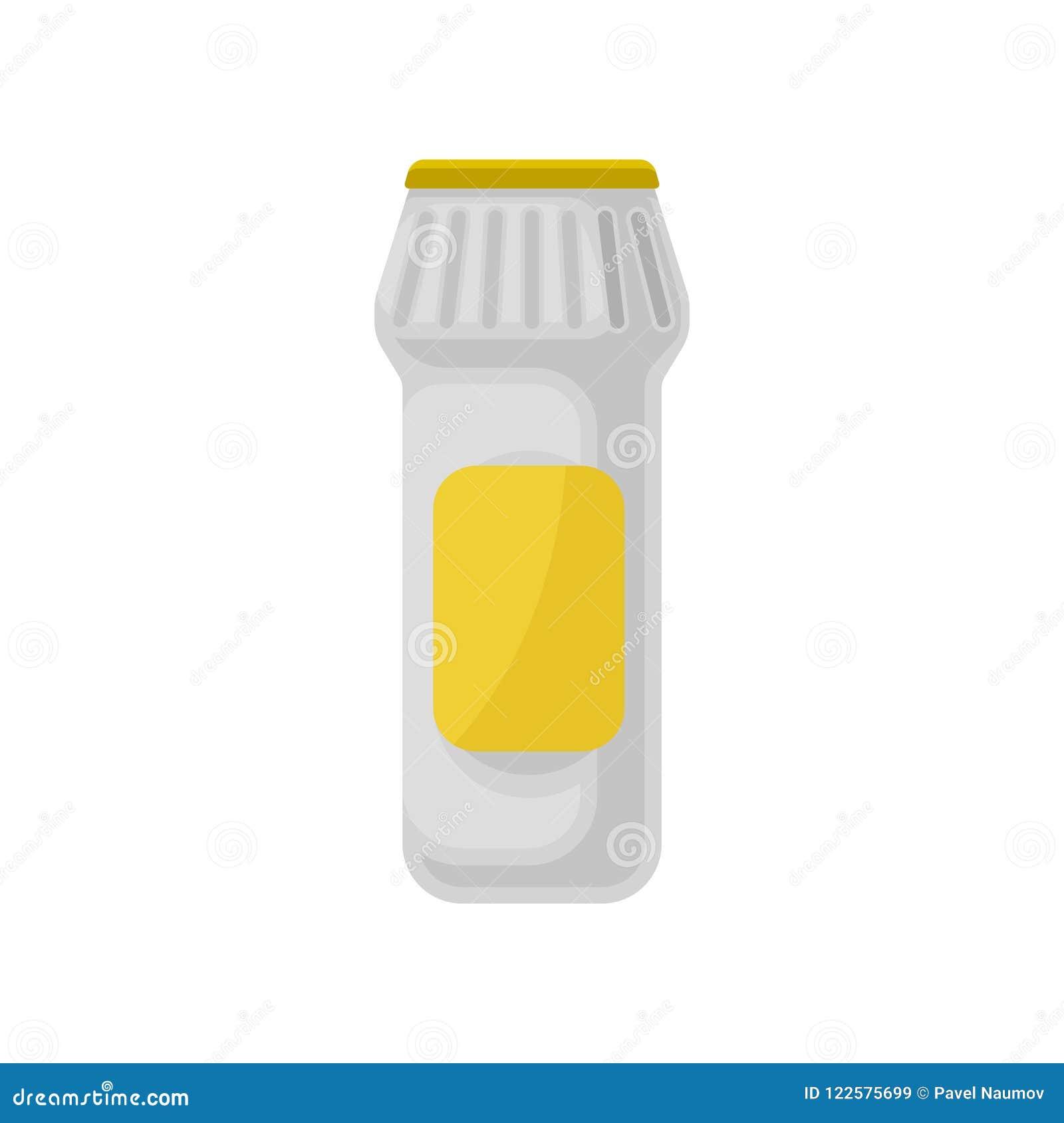 塑胶容器洗涤剂粉末,清洗化学制品在白色背景的家庭传染媒介例证