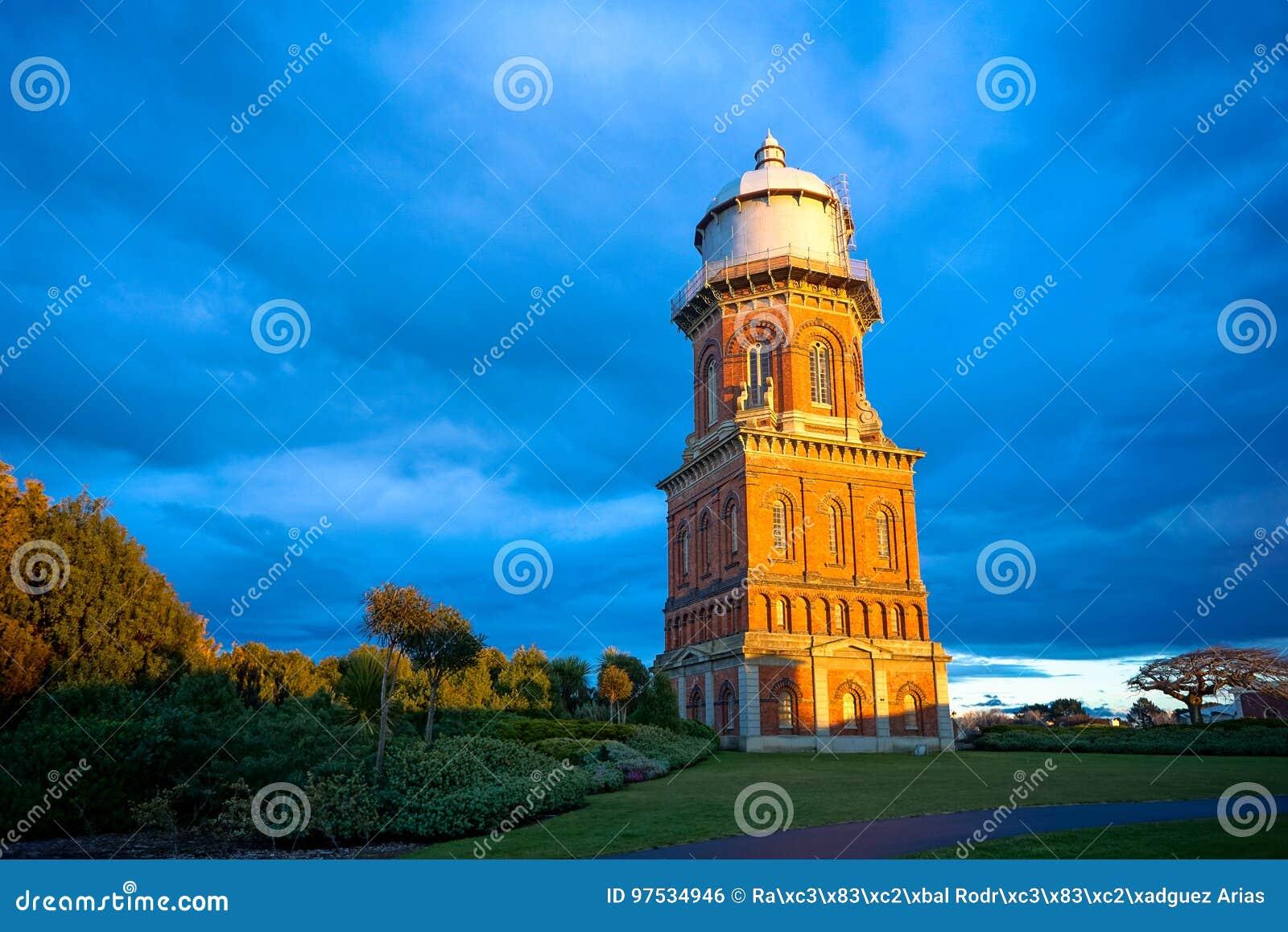 水塔在因弗卡吉耳,南方地区,新西兰