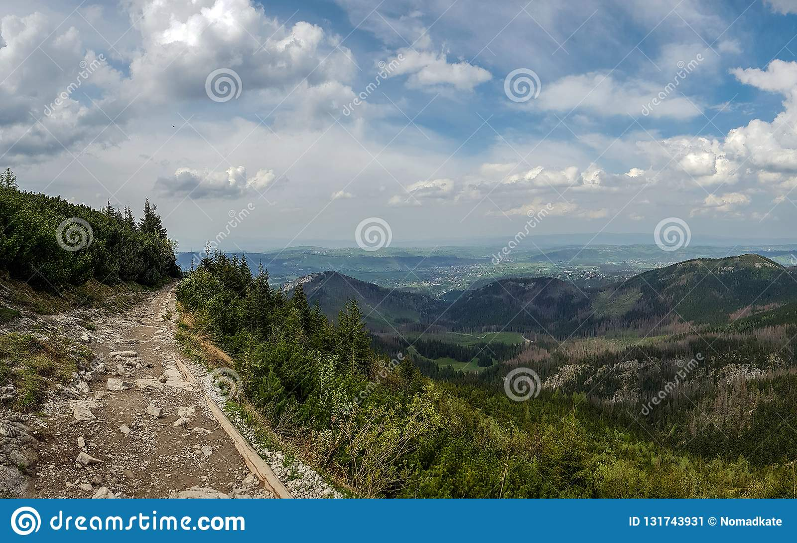 塔特拉山脉,一部分美好的风景的喀尔巴阡山脉链子在欧洲东部,在斯洛伐克和波兰之间