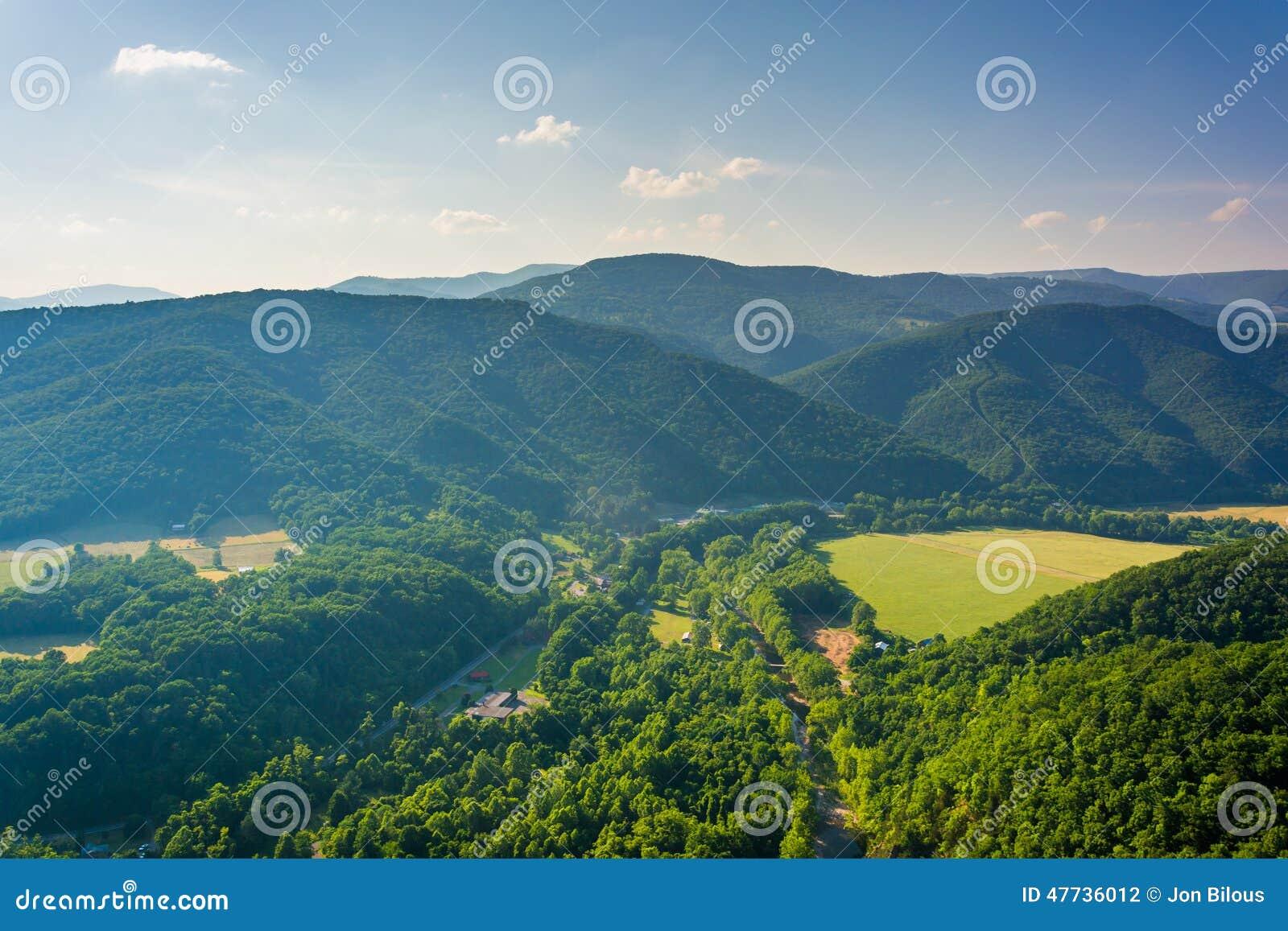 从塞内卡岩石的看法, Monongahela国家森林,西部维尔京