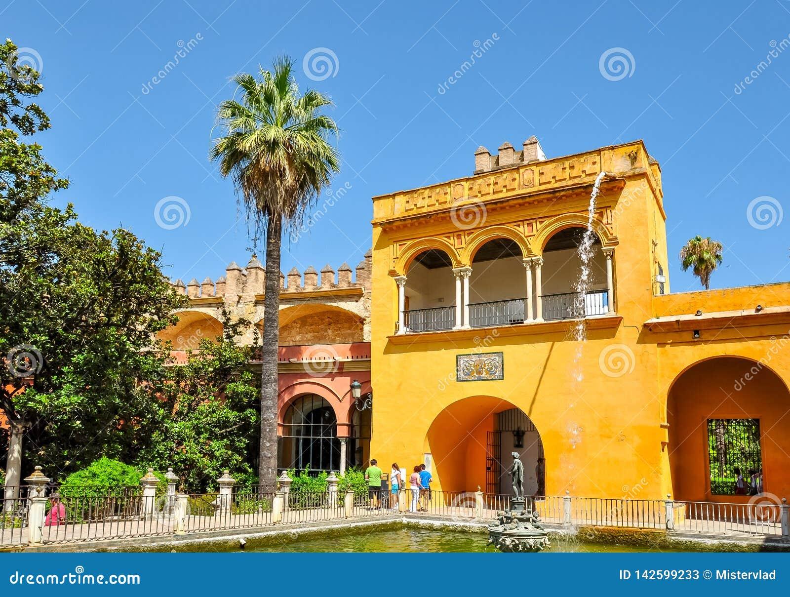 塞维利亚城堡庭院,西班牙