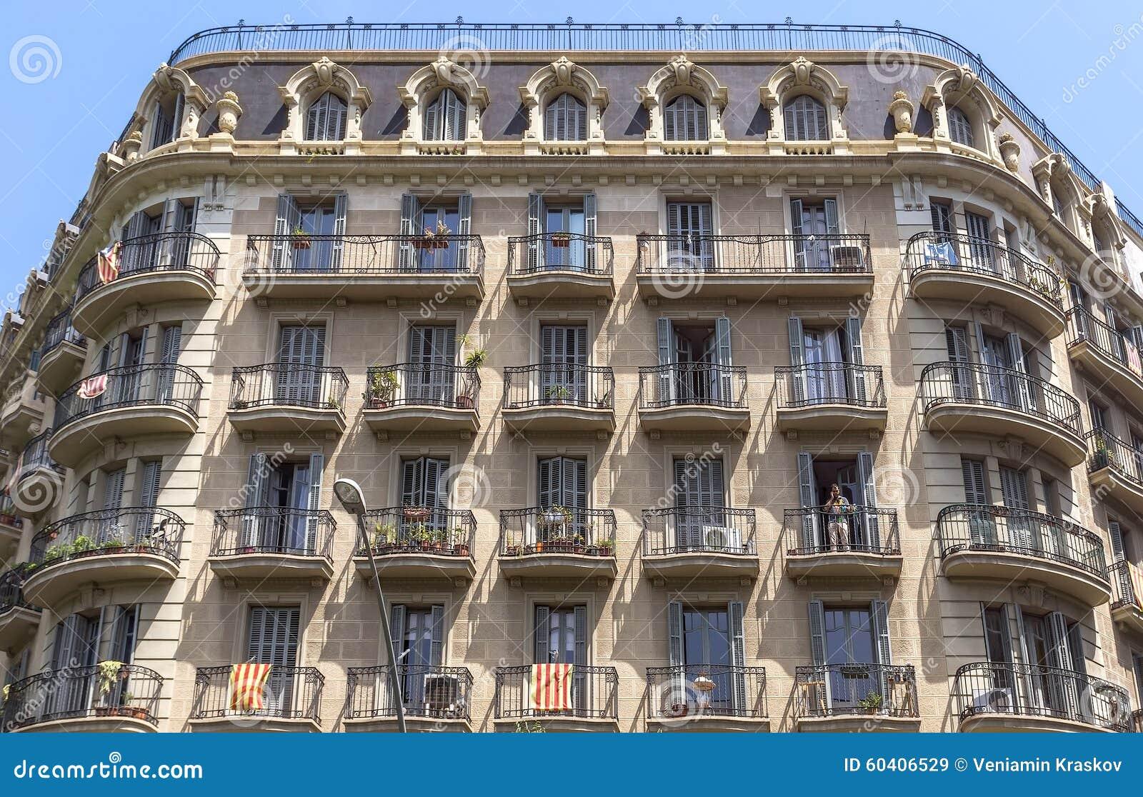 巴塞罗那典型的建筑学