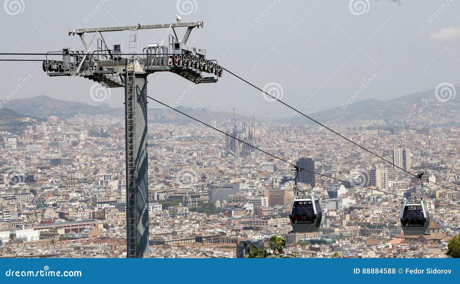 巴塞罗那空中览绳视图