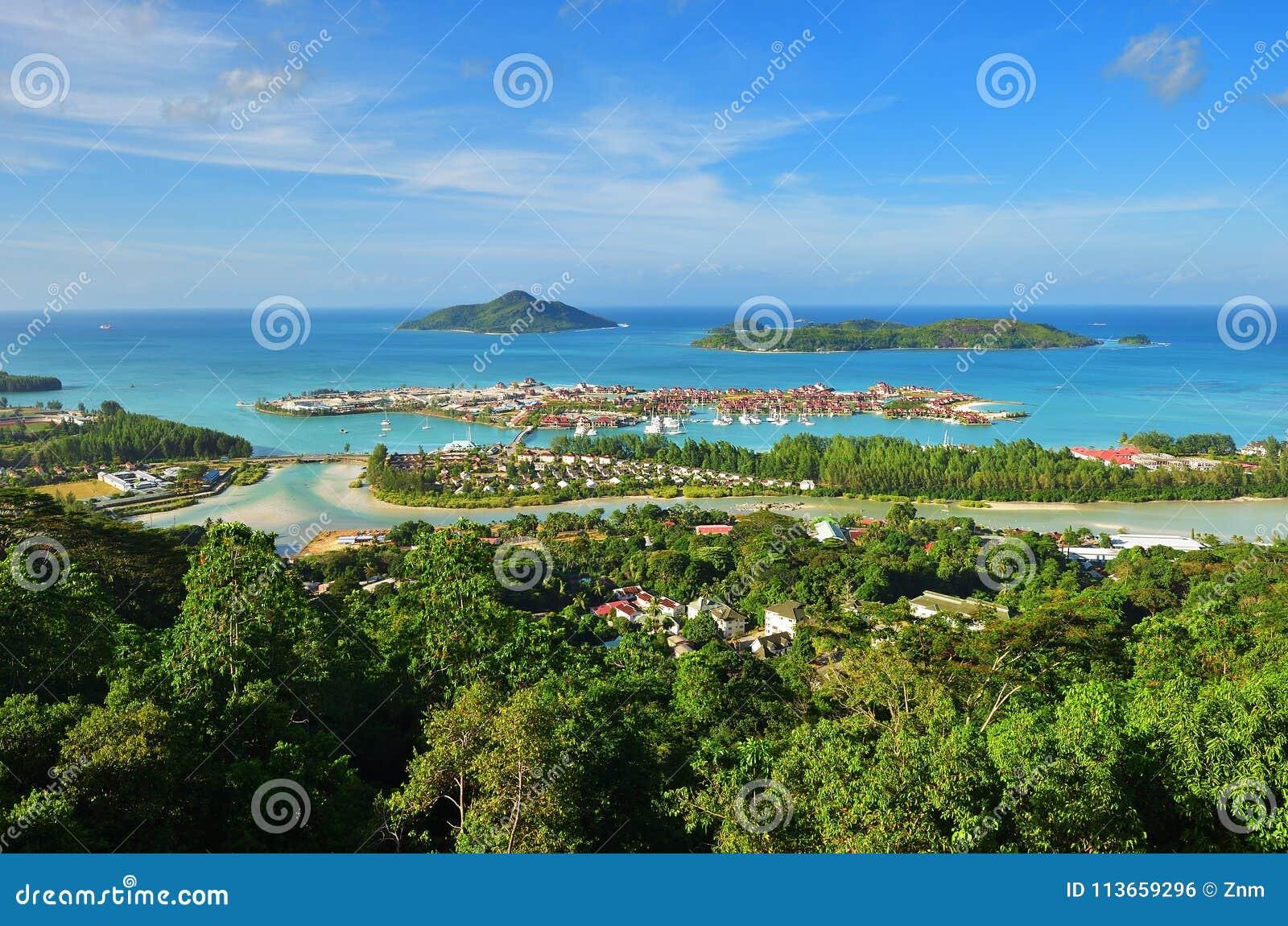塞舌尔群岛从上面