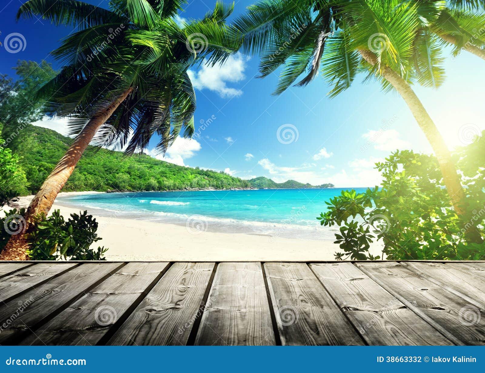 塞舌尔群岛海滩