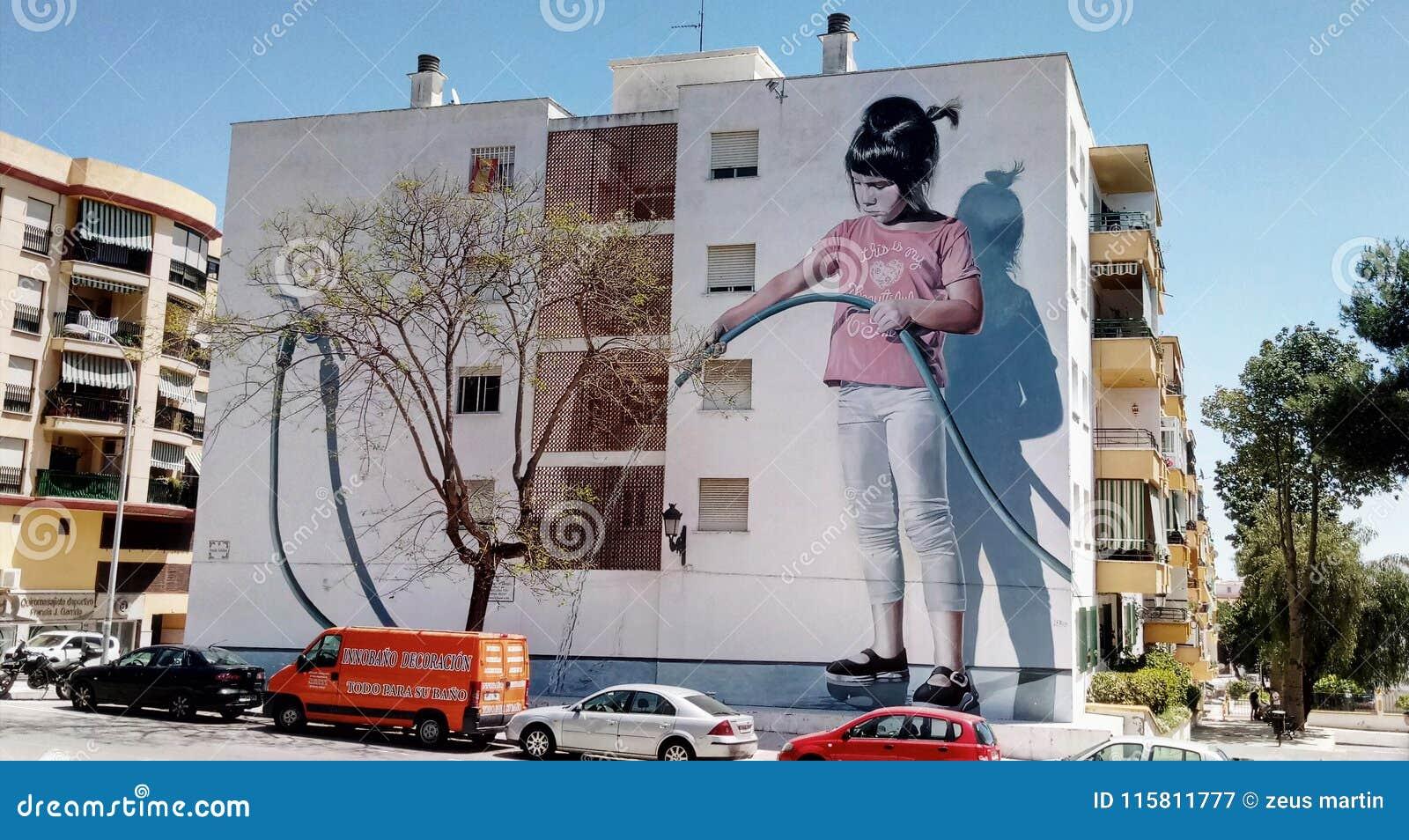 墙壁上的油漆都市艺术