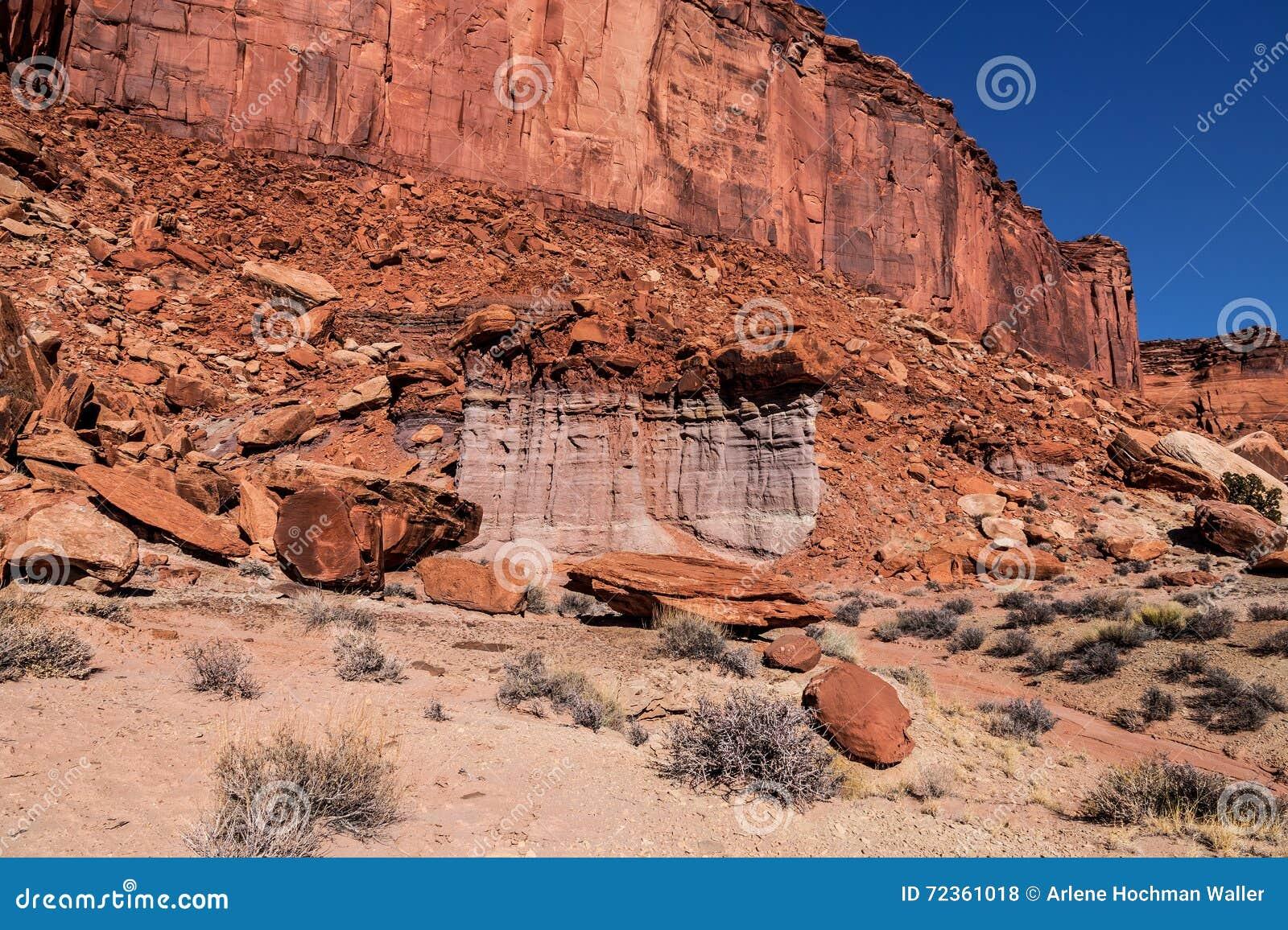 墨菲足迹天空的犹他Canyonlands NP-海岛