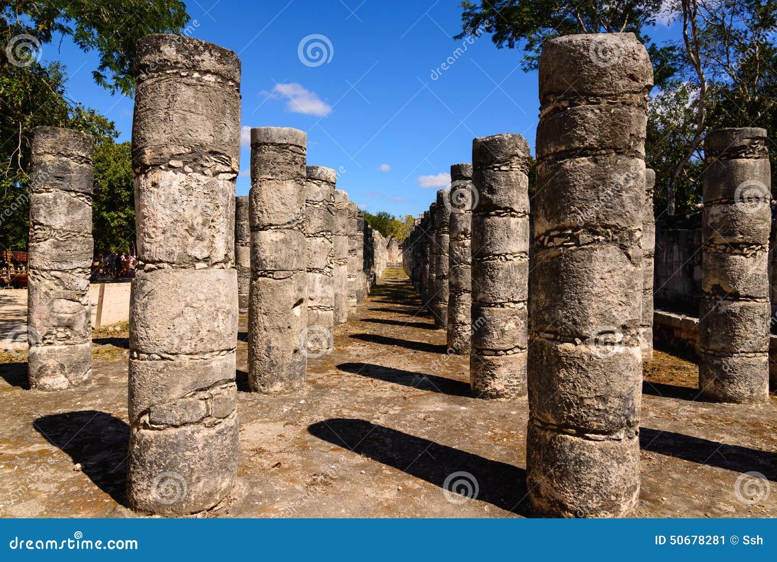 Download 墨西哥一千个专栏寺庙在尤加坦 库存图片. 图片 包括有 城市, 地标, 废墟, 寺庙, 透视图, 牺牲, 结构 - 50678281