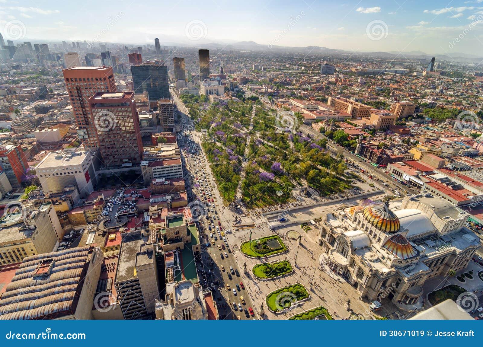 墨西哥城鸟瞰图
