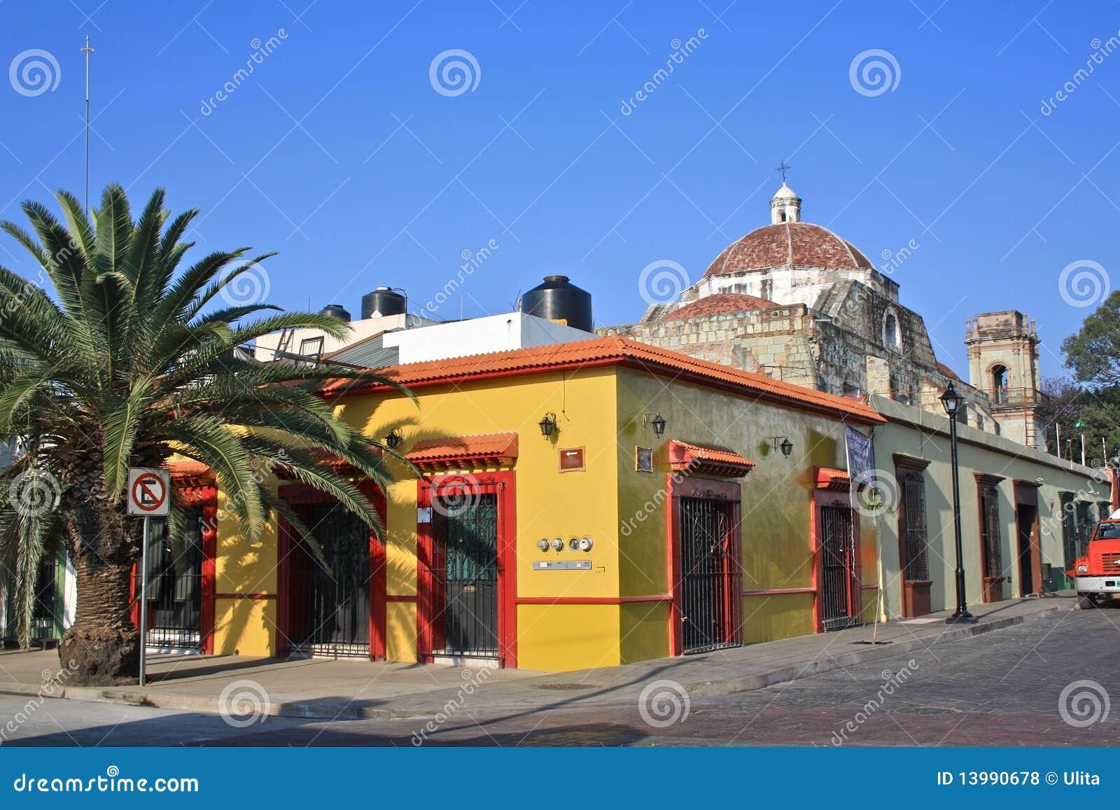 壁角墨西哥oaxaca街道
