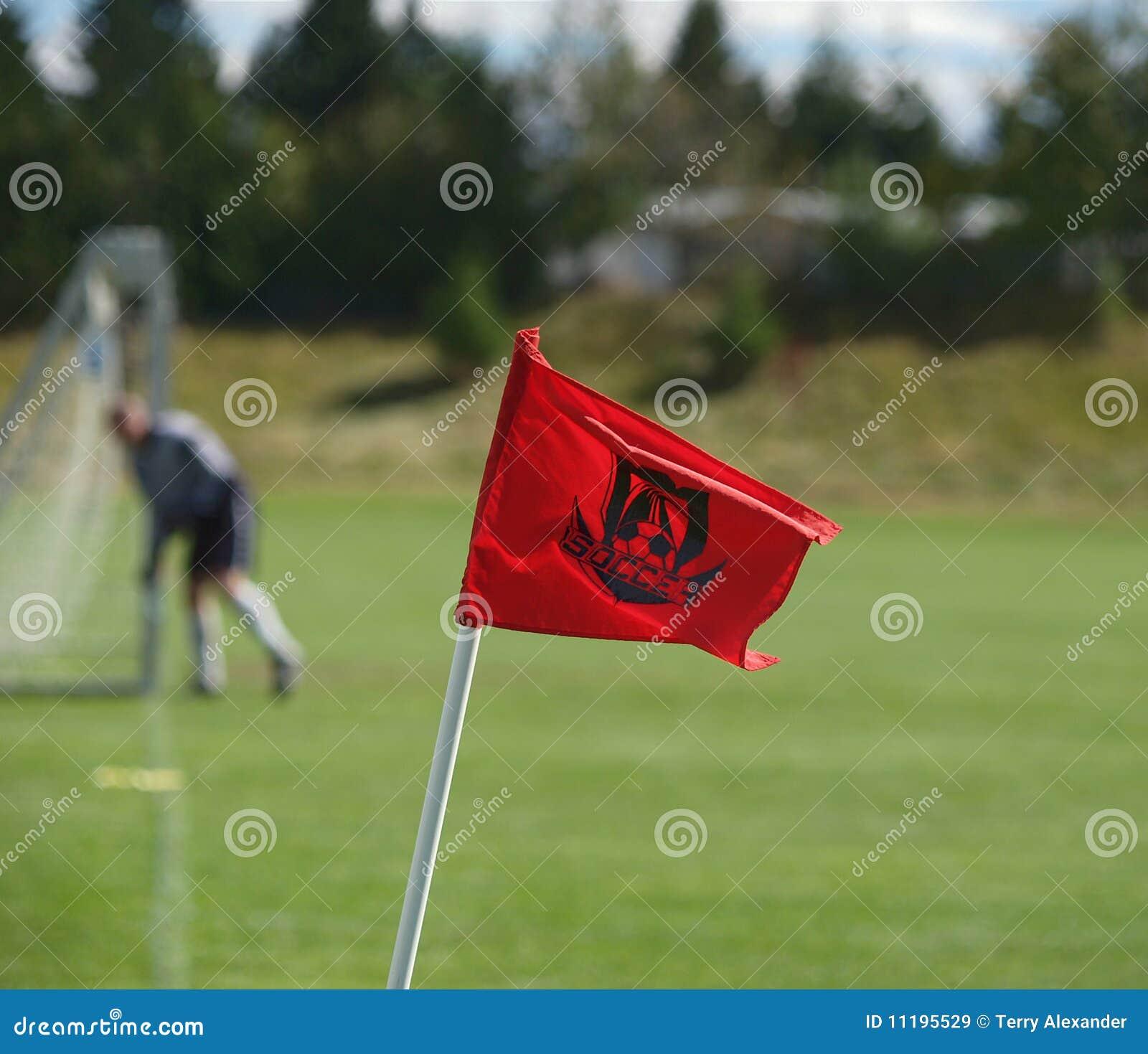 壁角标志足球