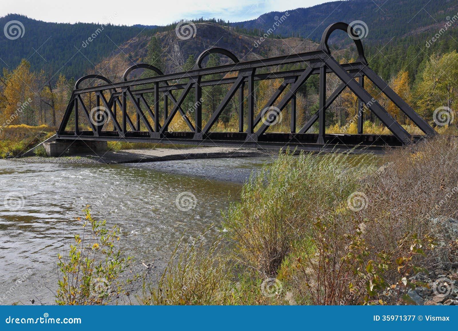 水壶谷在Nicola河的路轨桥梁