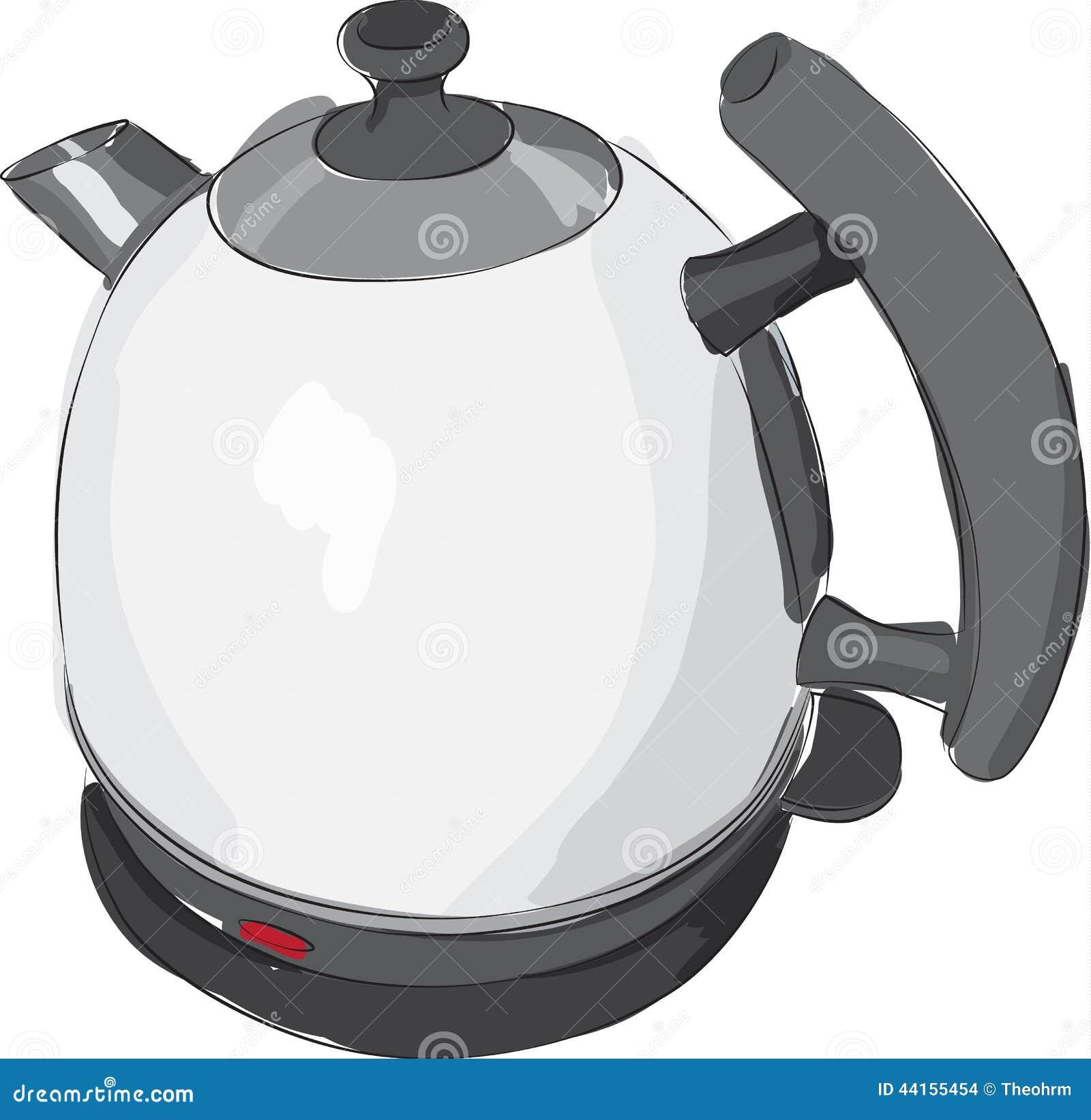 一个现代电水壶的速写的线描.图片